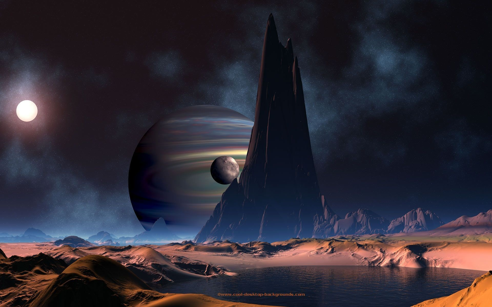Backgrounds Space Desktop Background Planet Planets Scifi : Full .