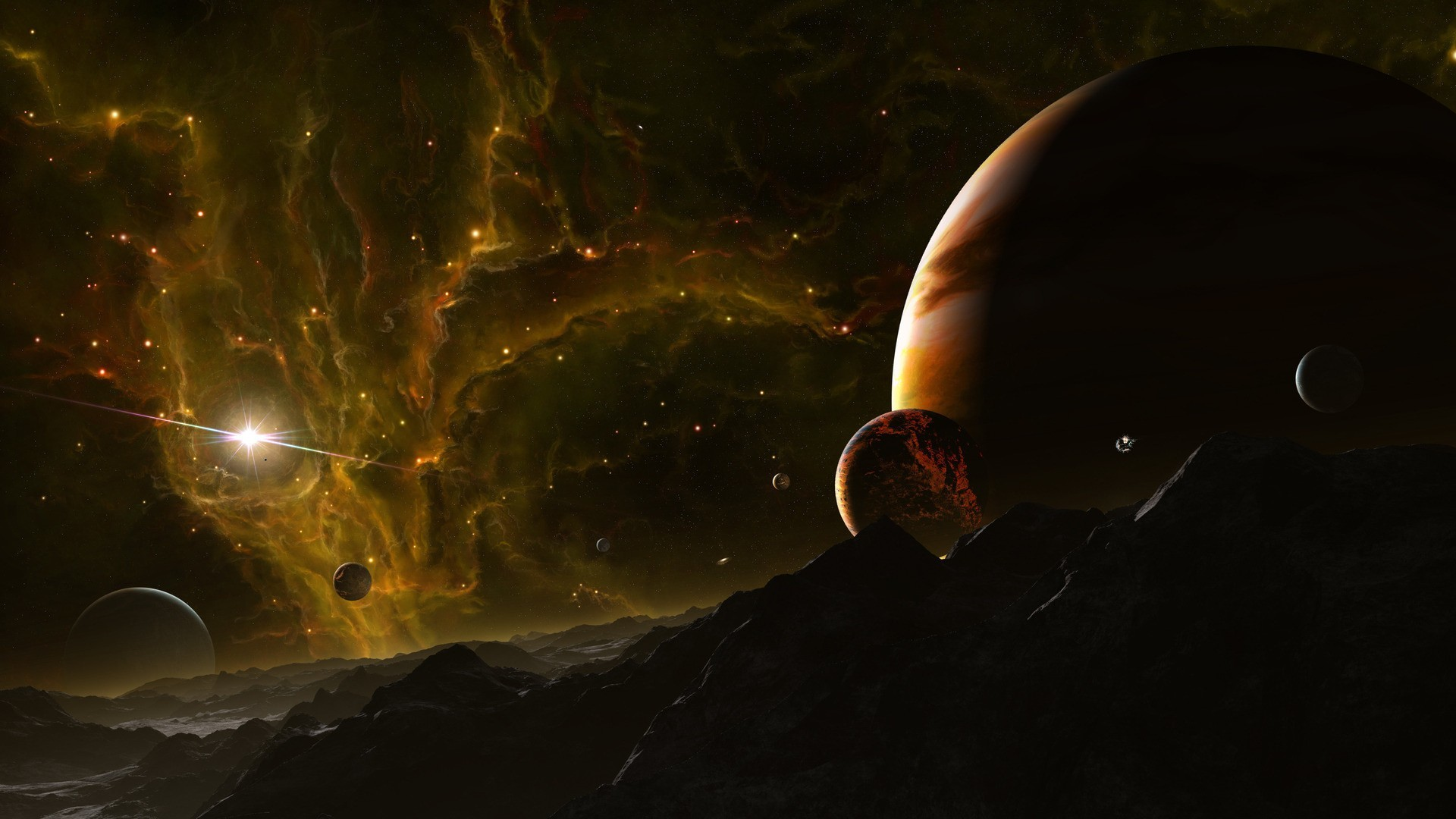 Outer Space Planets Digital Art Wallpaper At 3d Wallpapers