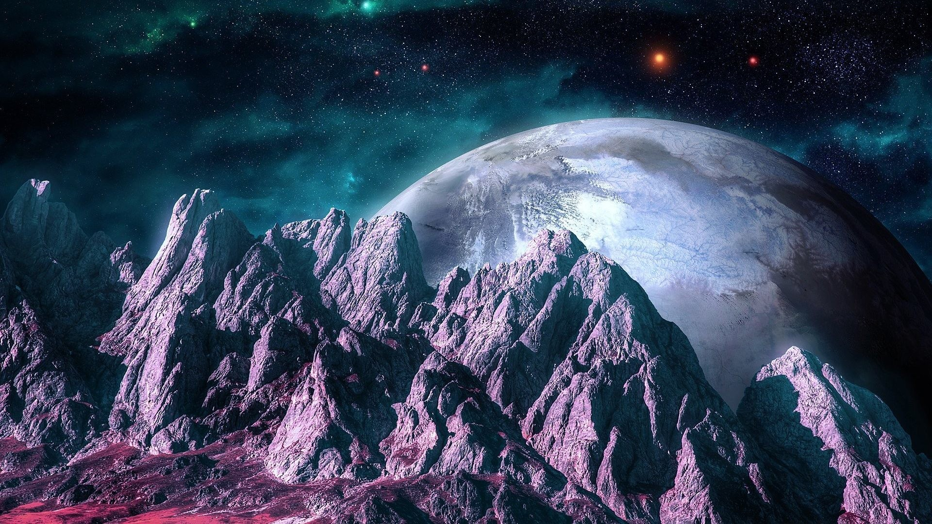 Space – Quiz Landscape Art Mountains Shape Stars Space Planets Galaxy S4  Nature Wallpaper Hd for