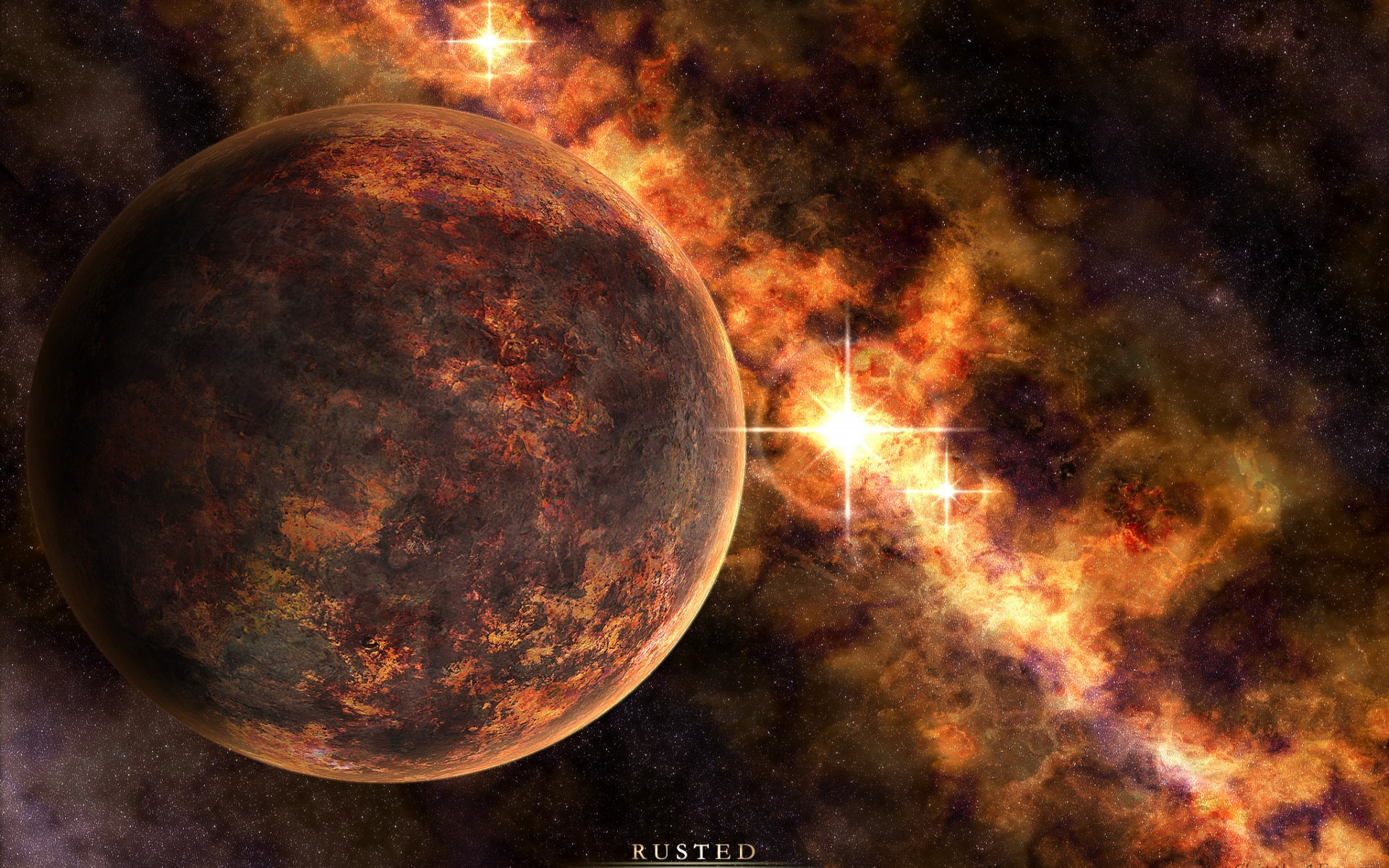 Outer Space Planets Stars
