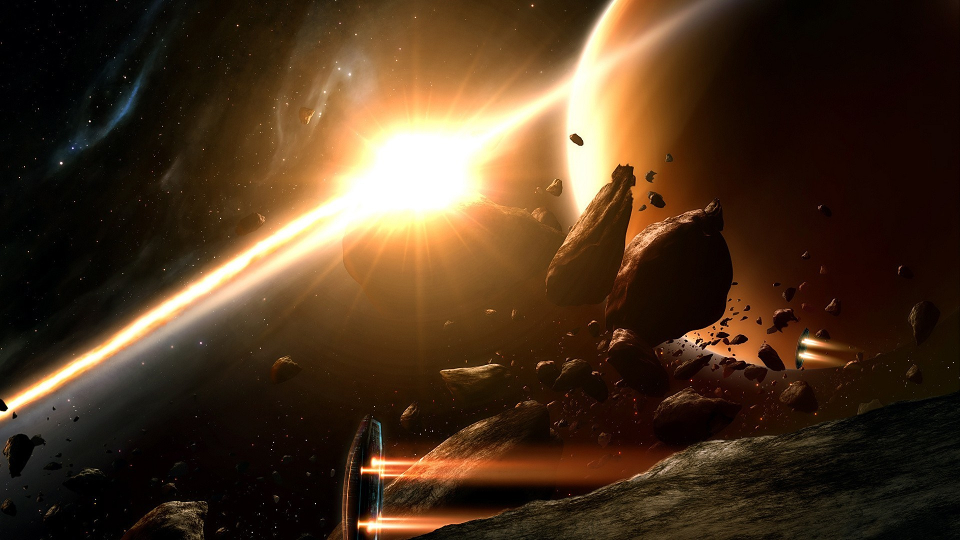 Space Asteroids Art
