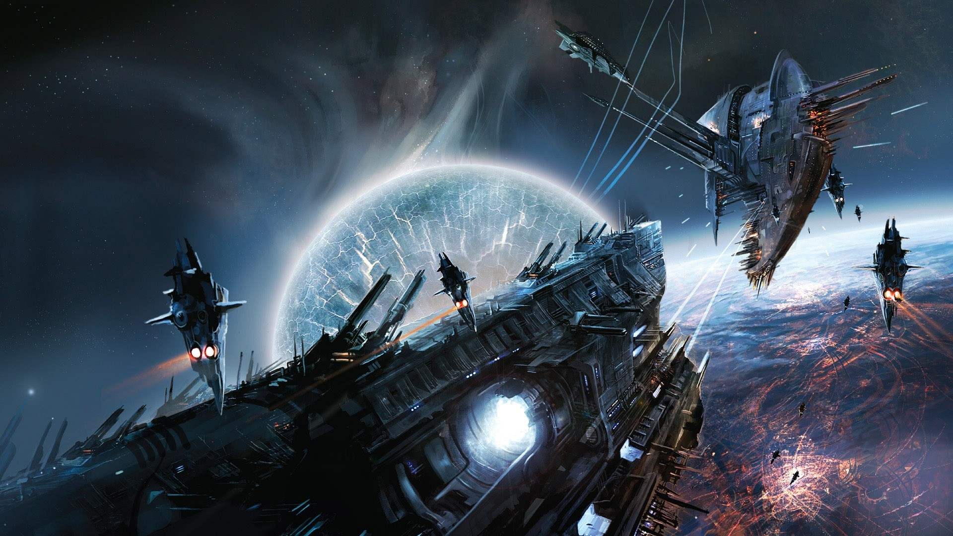 Space War Game Scene Wallpapers