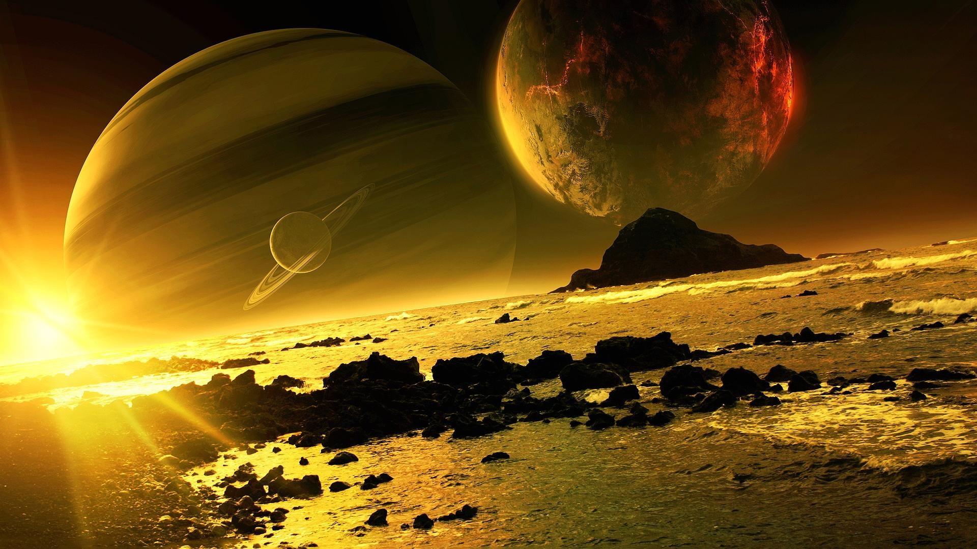 Z wallpaper planet scene