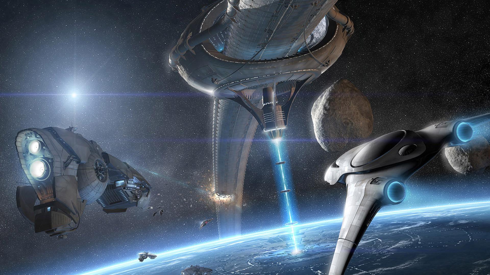 Futuristic Planets Sci-fi Artwork Space Scenes Weaponry
