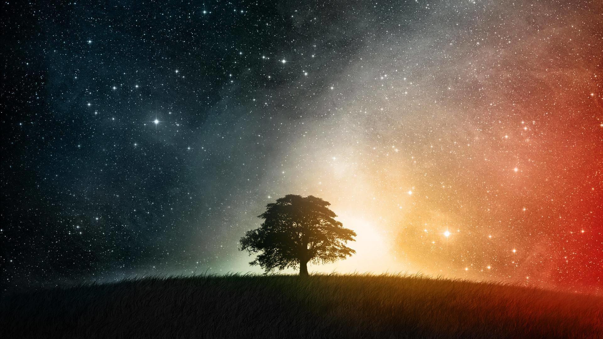 Images For > Night Sky Stars Wallpaper
