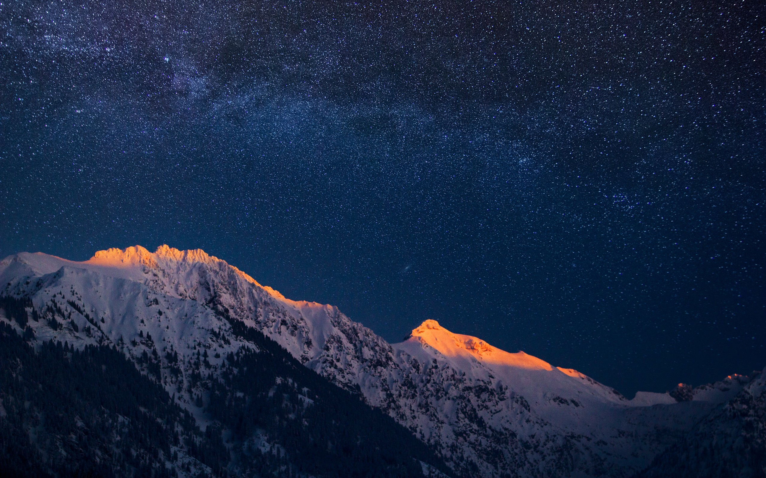 Mountains and a Night Sky HD Wallpaper | Download HD Wallpapers HD Wide  Wallpaper for Widescreen