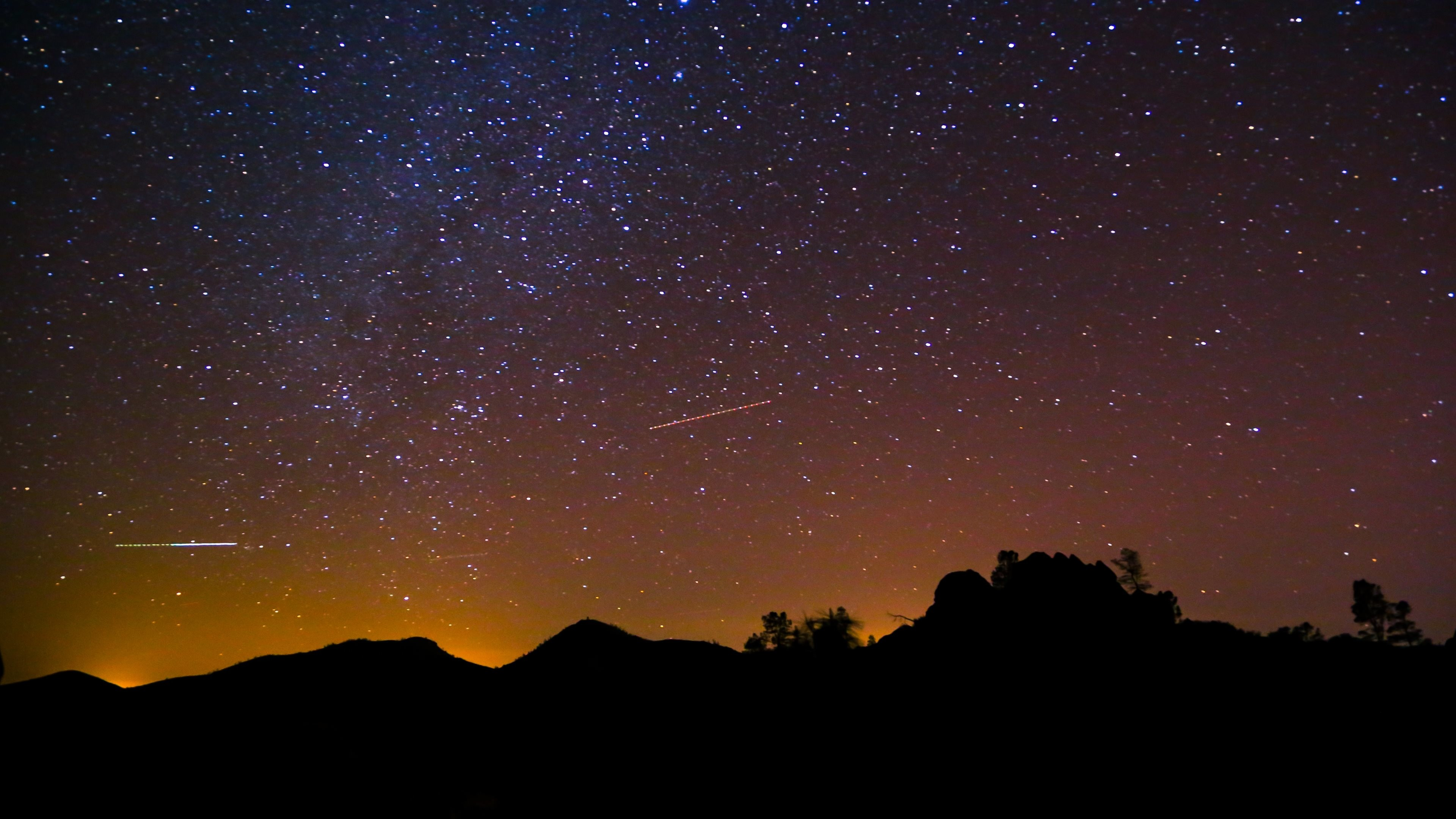 4K HD Wallpaper: Stars on the night sky