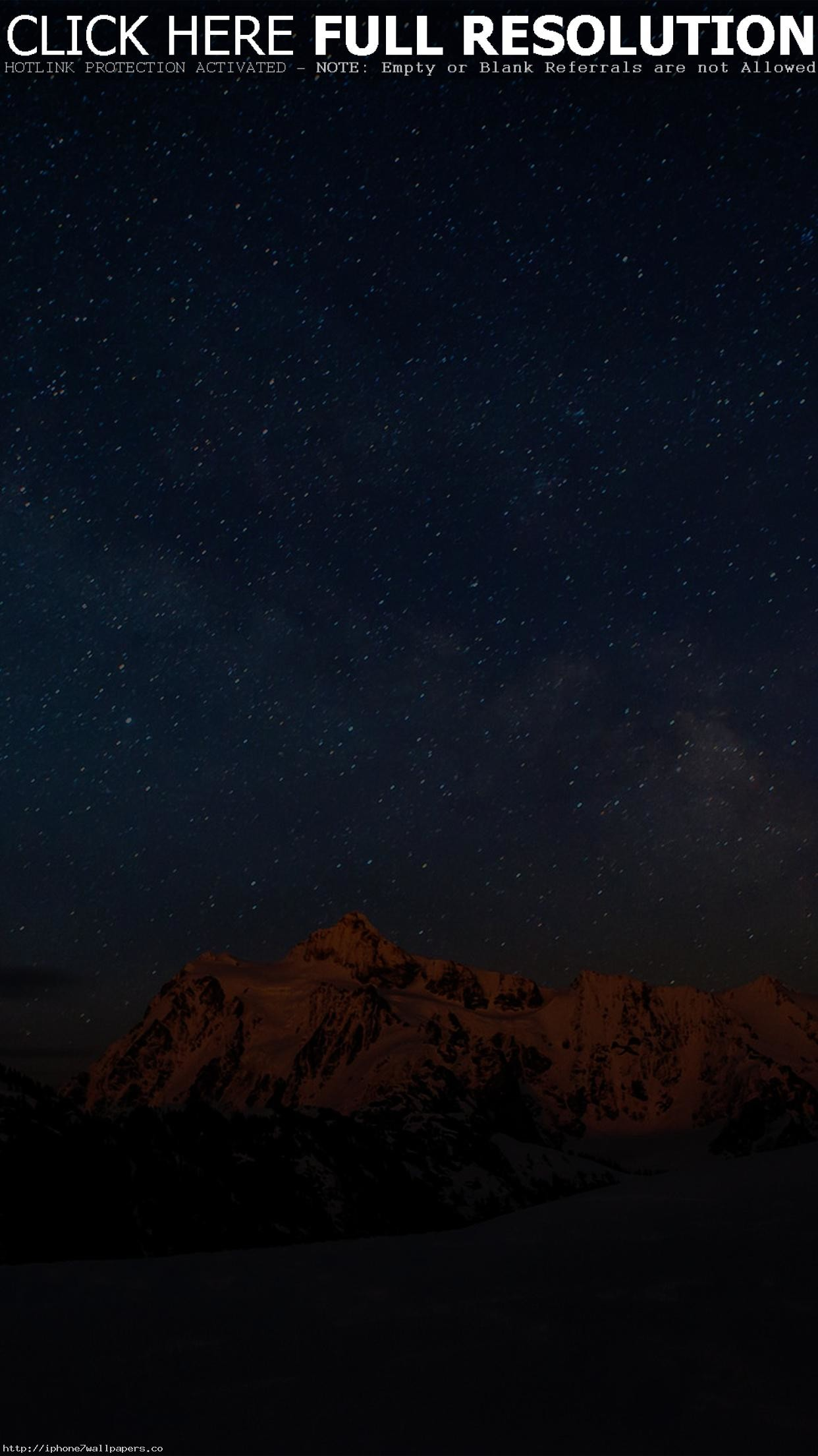 Starry Night Sky Mountain Nature Android wallpaper – Android HD wallpapers