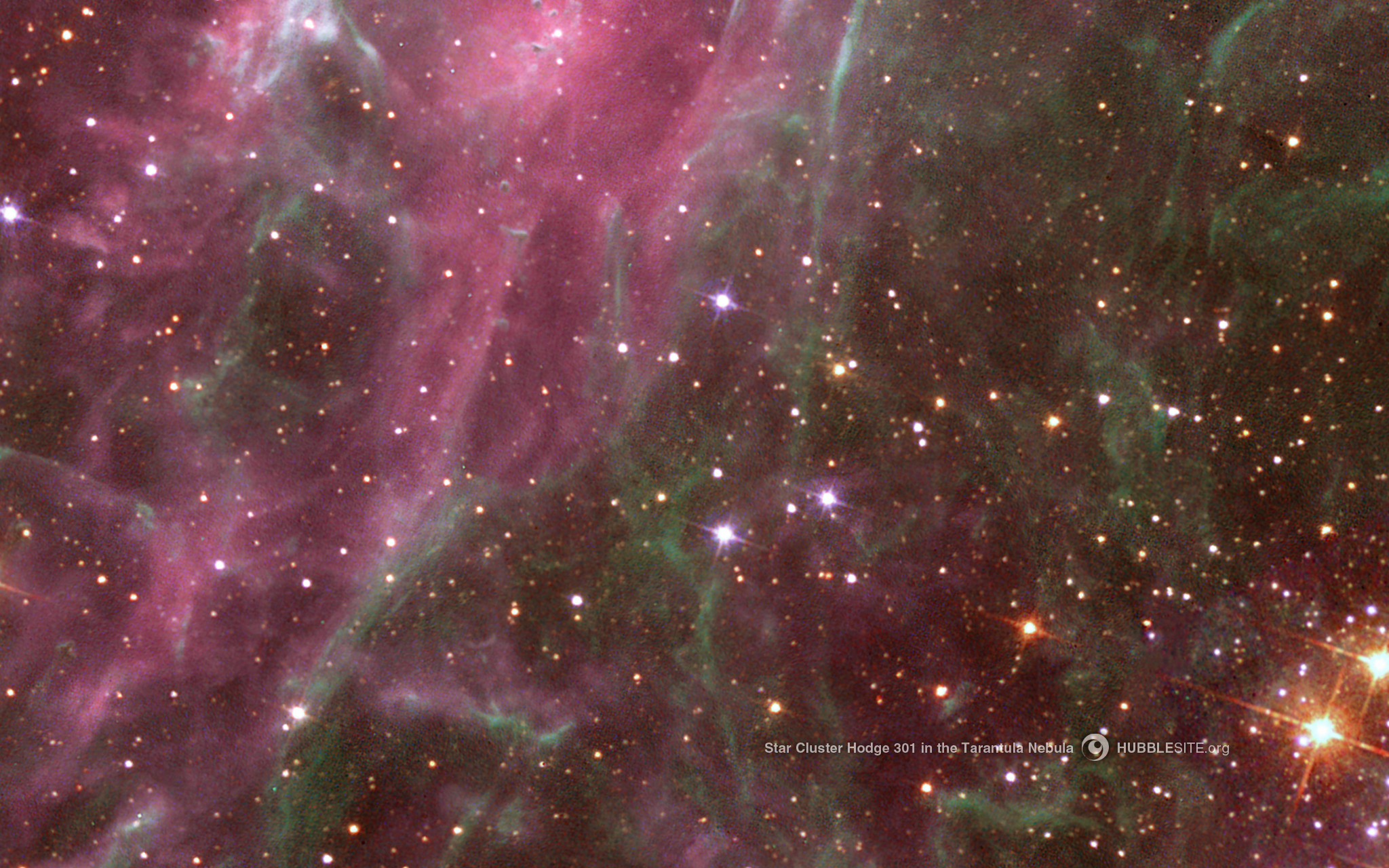 10 – Star Cluster in the Tarantula Nebula