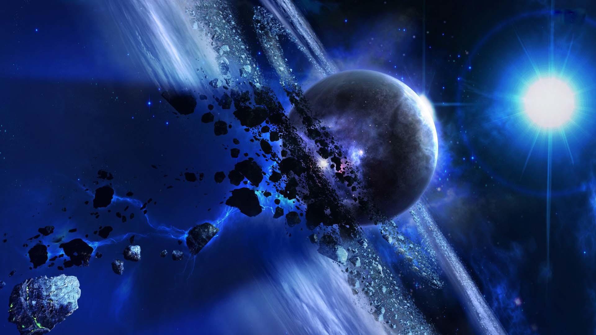 sky universe star planet light satellite orbit HD wallpaper
