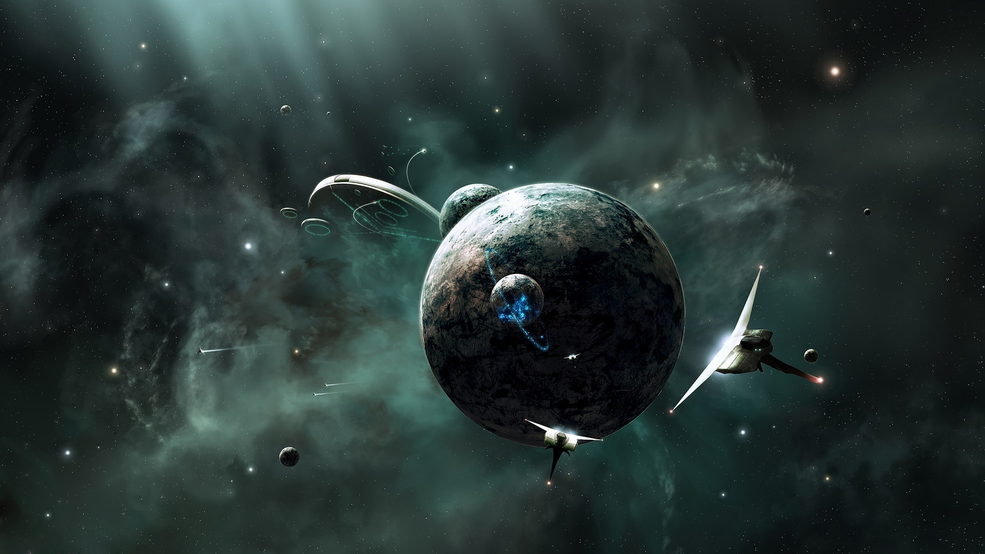 space, Universe, Digital Art, CGI, Planet, Spaceship, Stars, 3D, Science  Fiction Wallpapers HD / Desktop and Mobile Backgrounds
