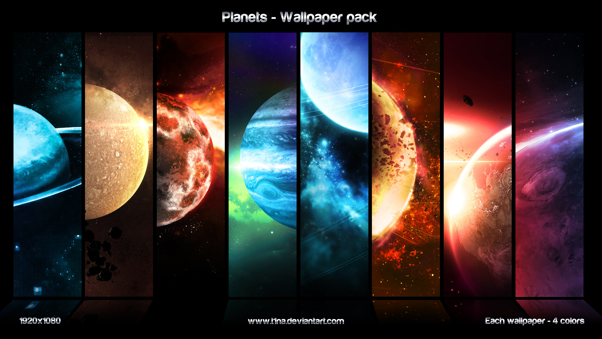 Planets – wallpaper pack by t1na Planets – wallpaper pack by t1na