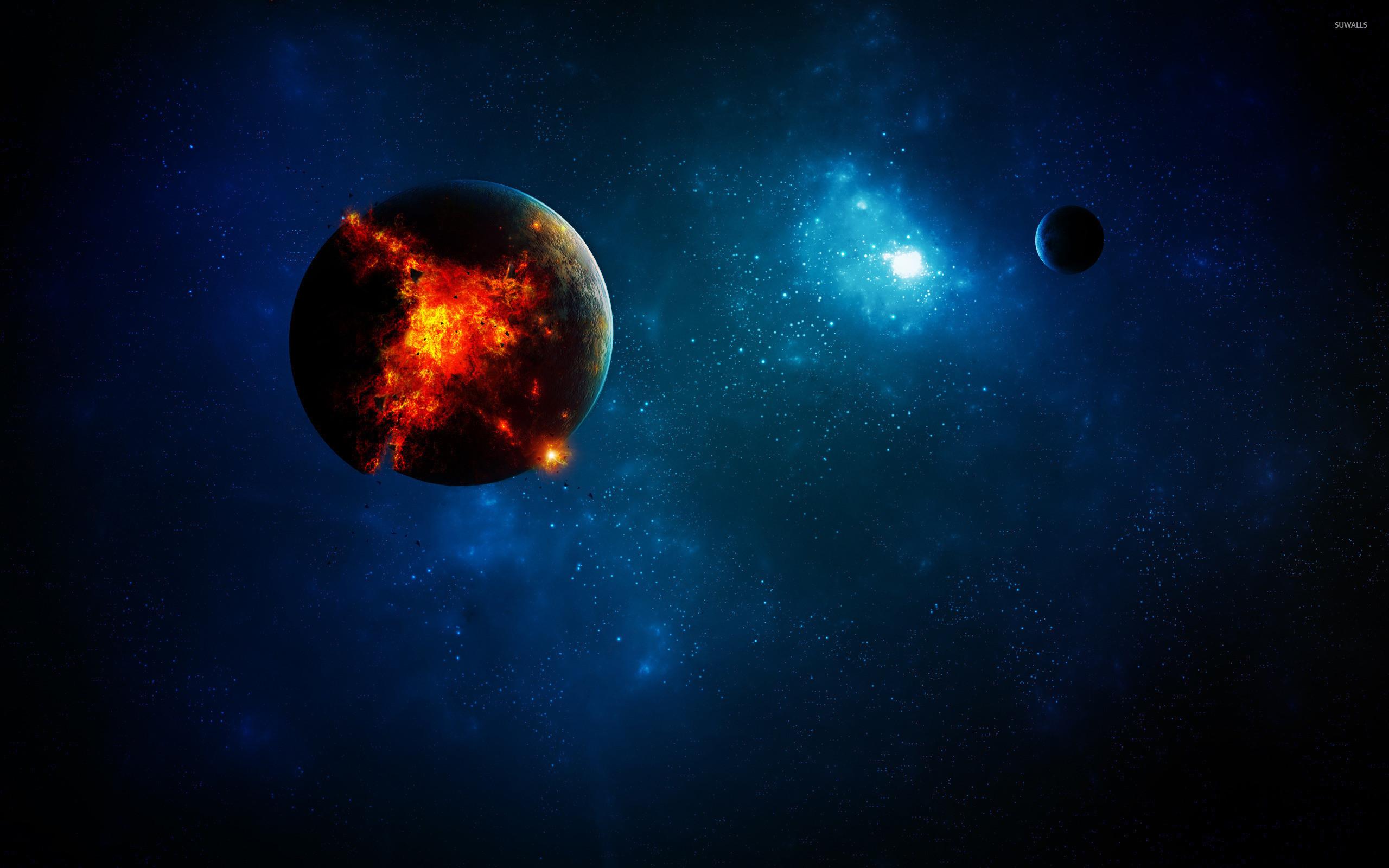 Exploding planet [9] wallpaper