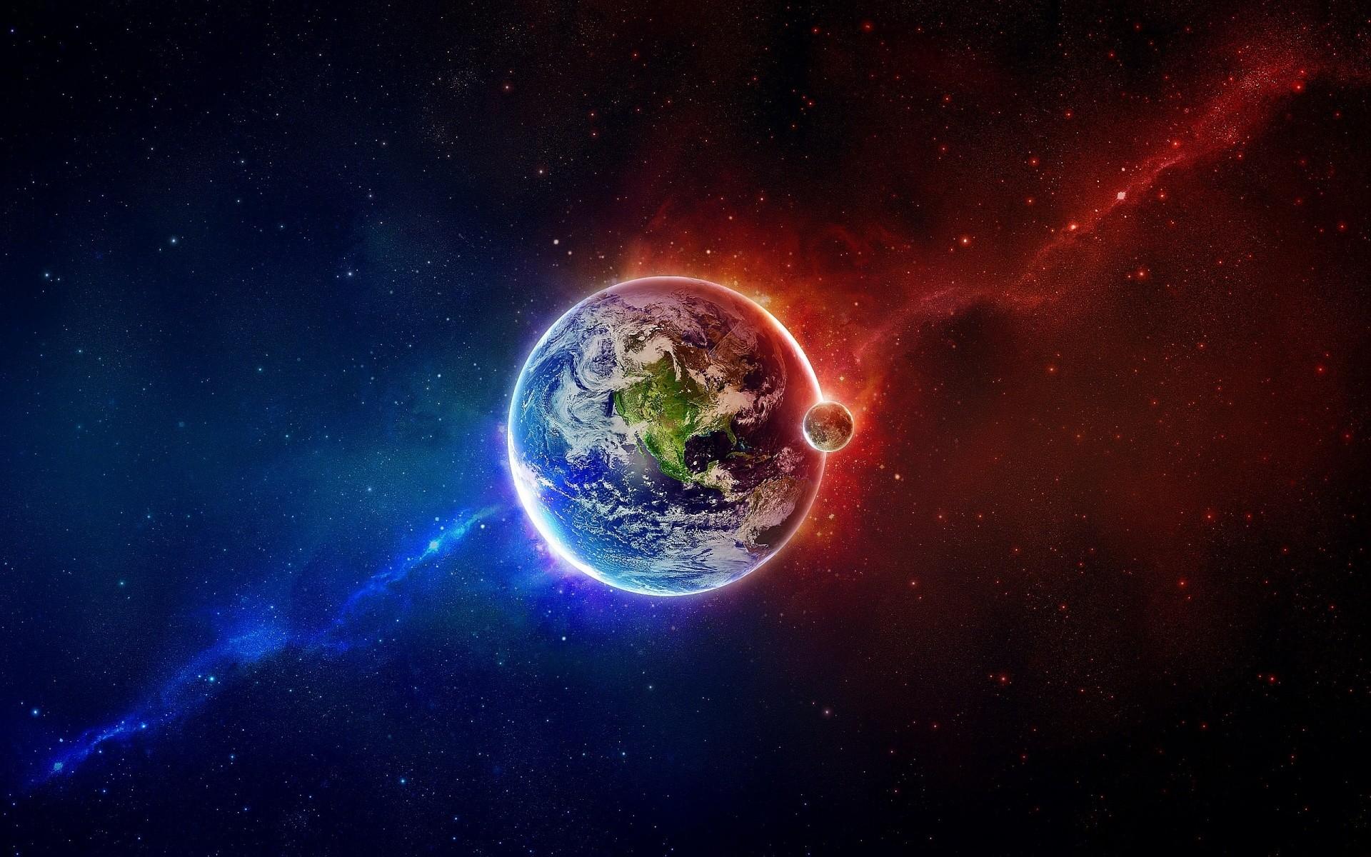Fire Ice Planet Wallpaper