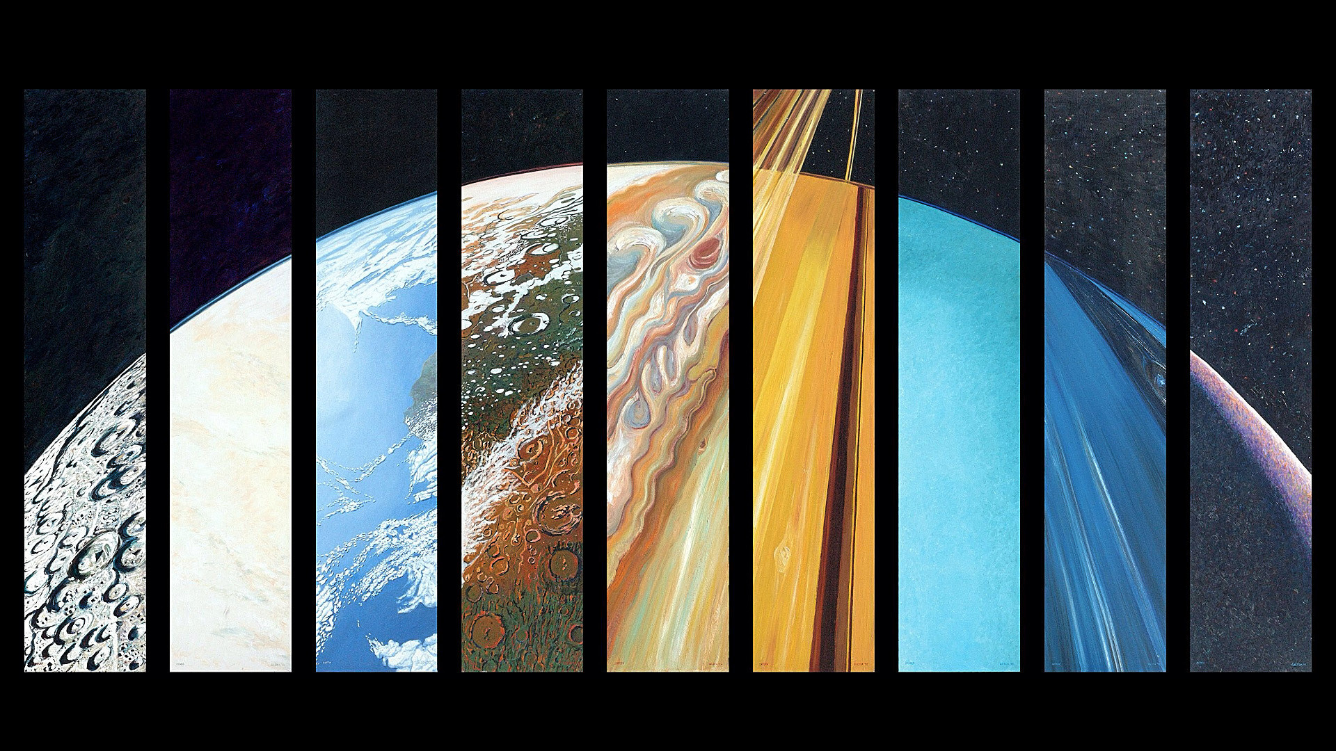 Every Planet in One – Planetary Suite by Steve Gildea [1920×1080] …