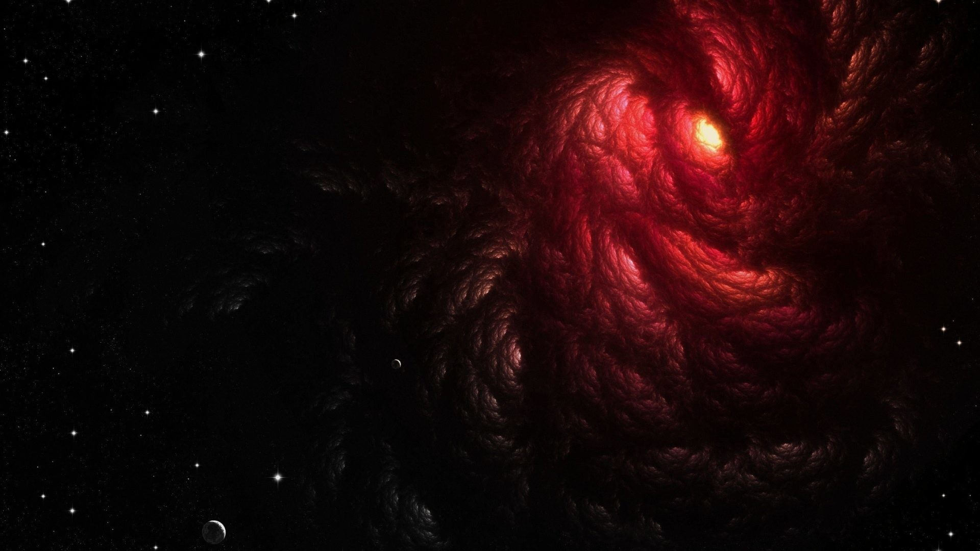 #000000 Color – Space Maw Planets Outer Void Clouds Red Stars Photo Of  Nature Beauty