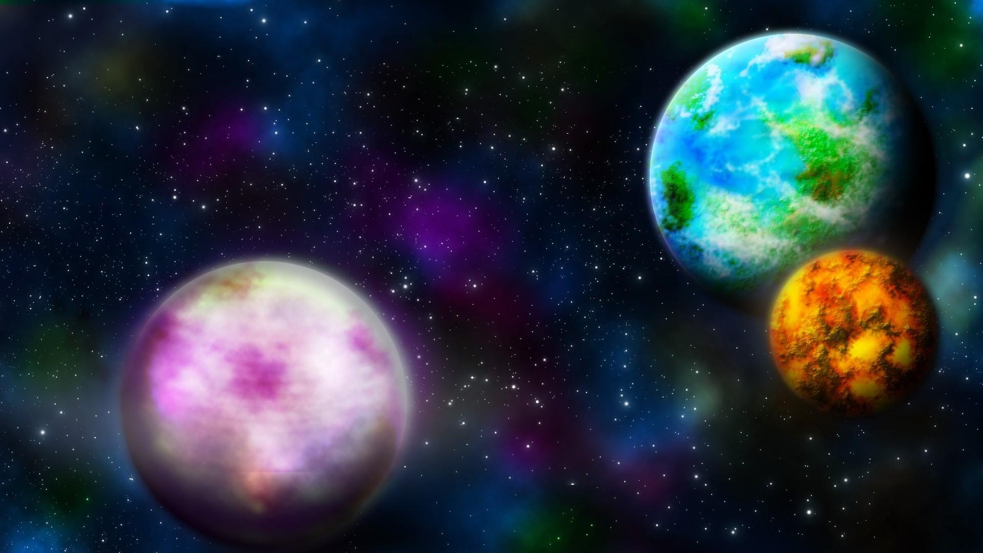 Multicolored planets wallpaper – 212818