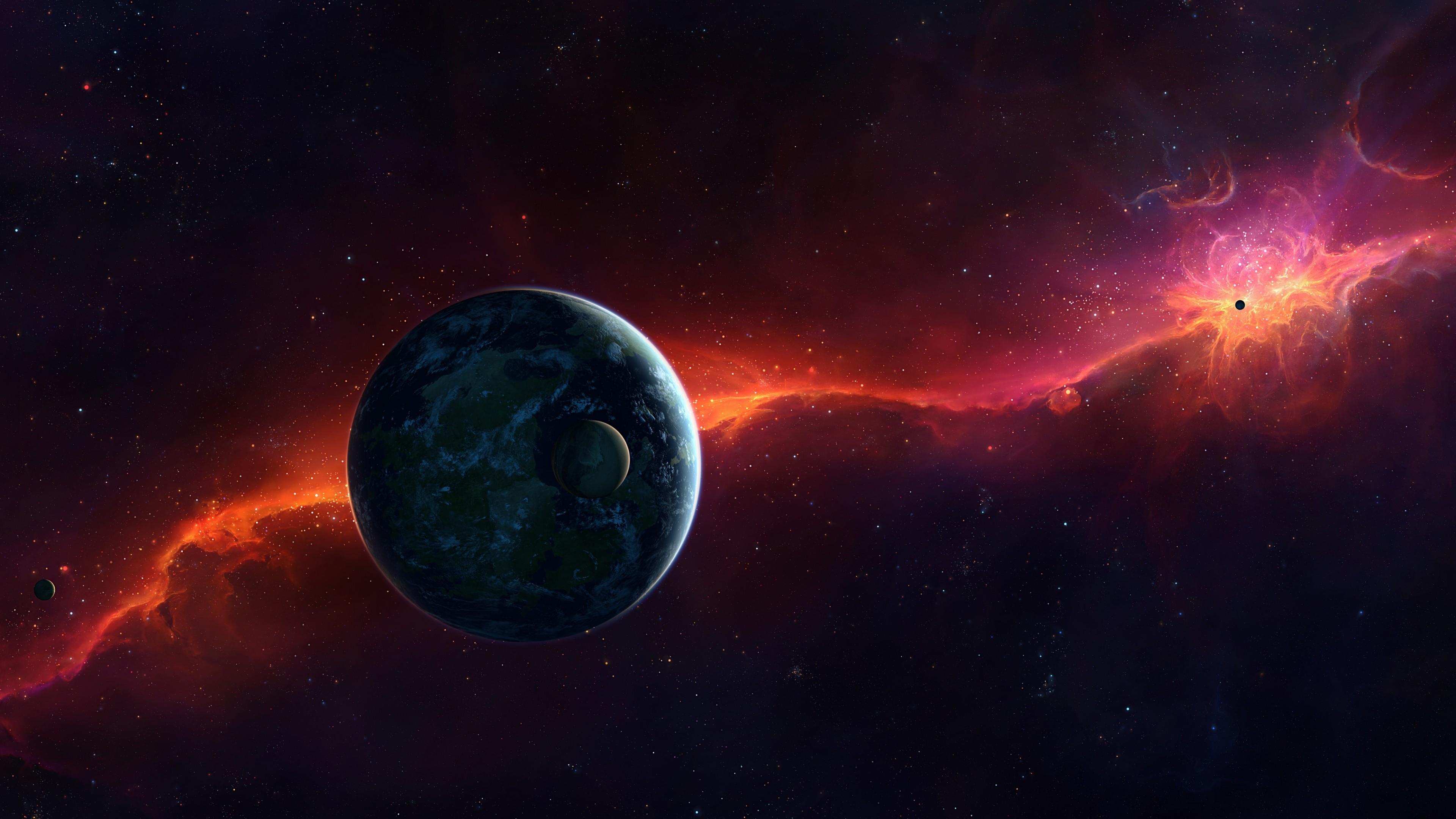 Planets, Cosmos, Galaxy, 4K
