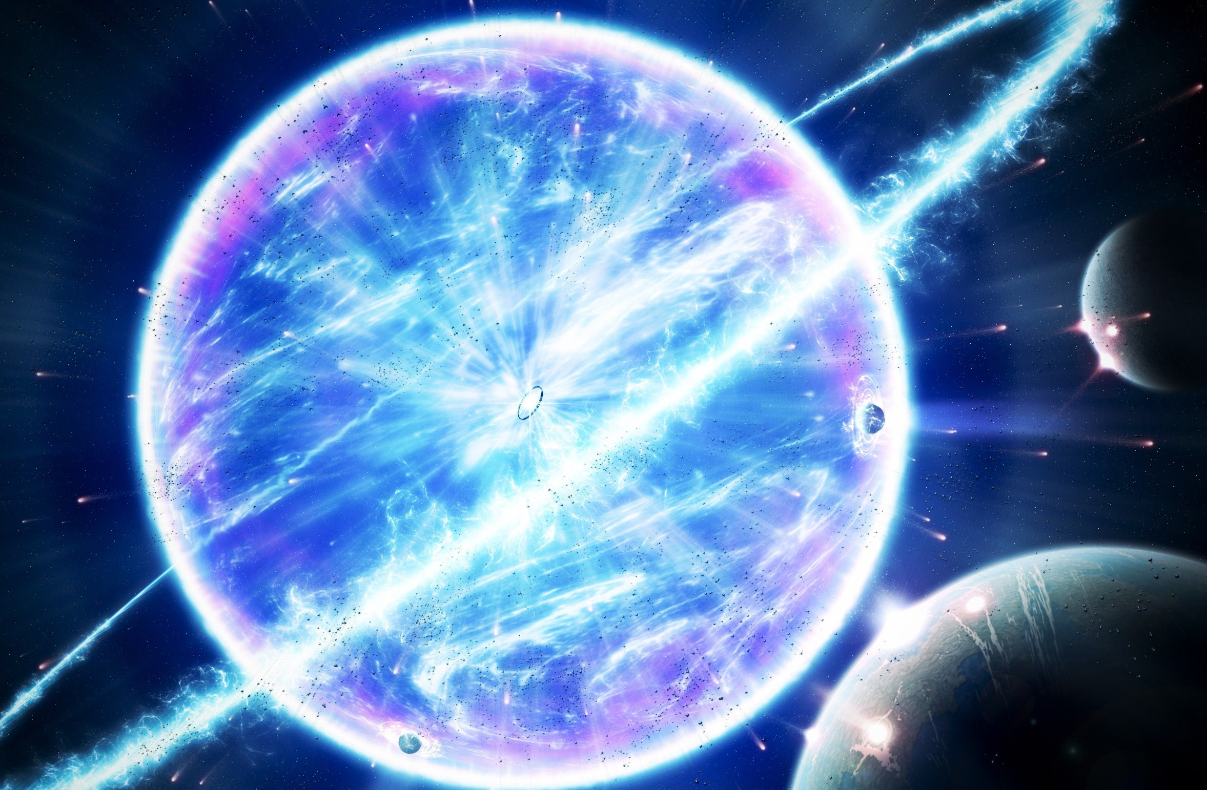 Space Supernova Outer Planets HD Wallpaper