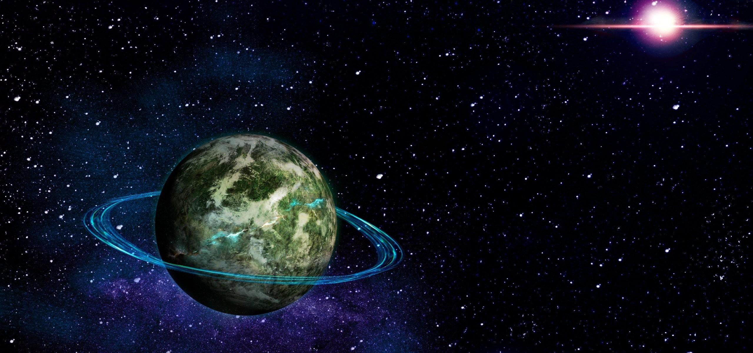 planet ring space cosmic energy stars universe supernova background