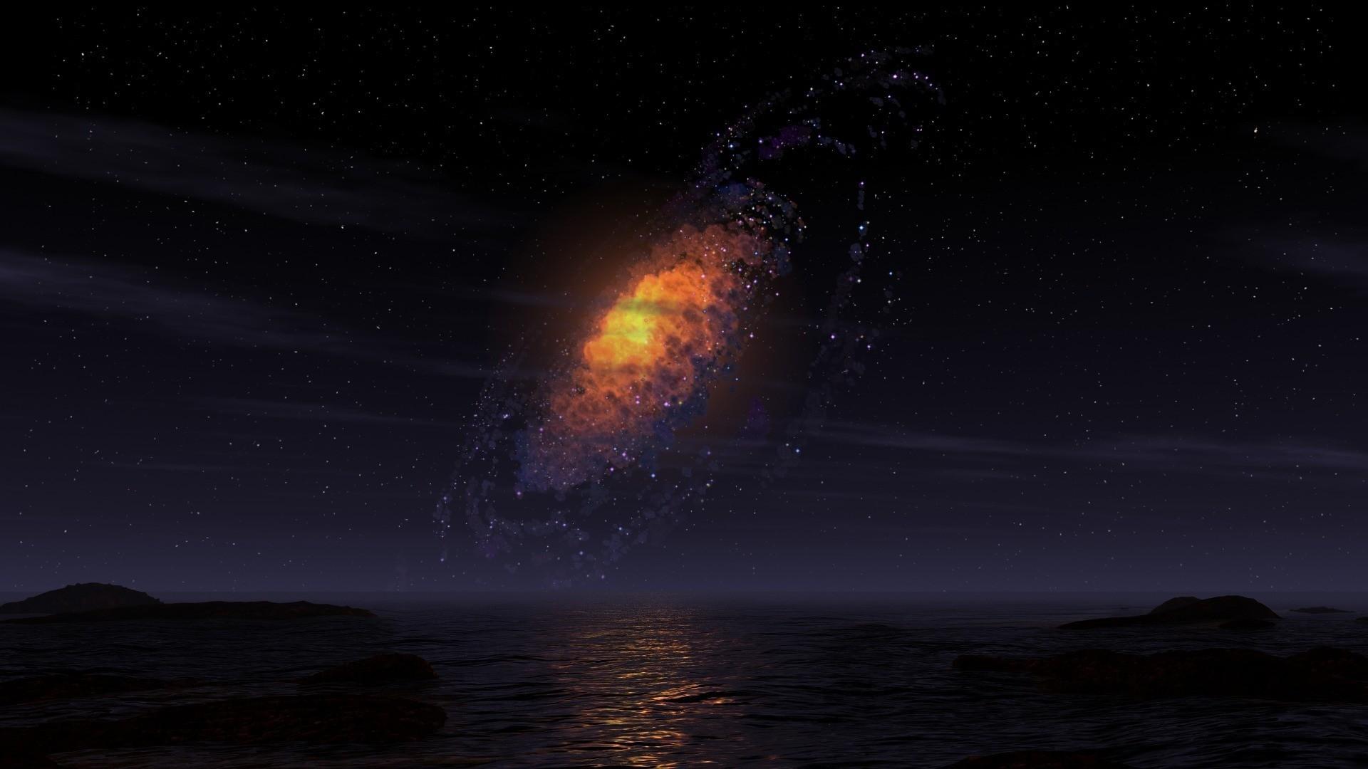 Sea Milky Wallpaper Sea, Milky, Way