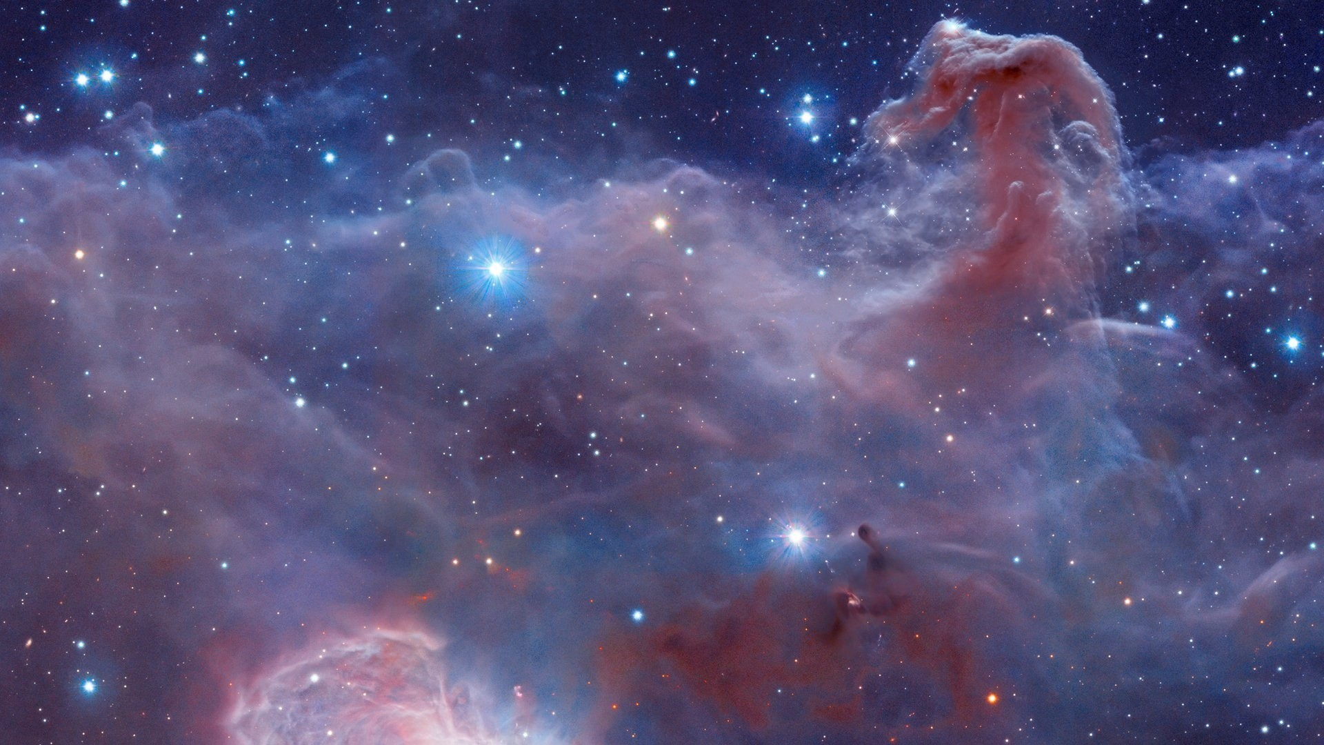 Wallpaper horsehead nebula, barnard 33, nebula, orion, space desktop .
