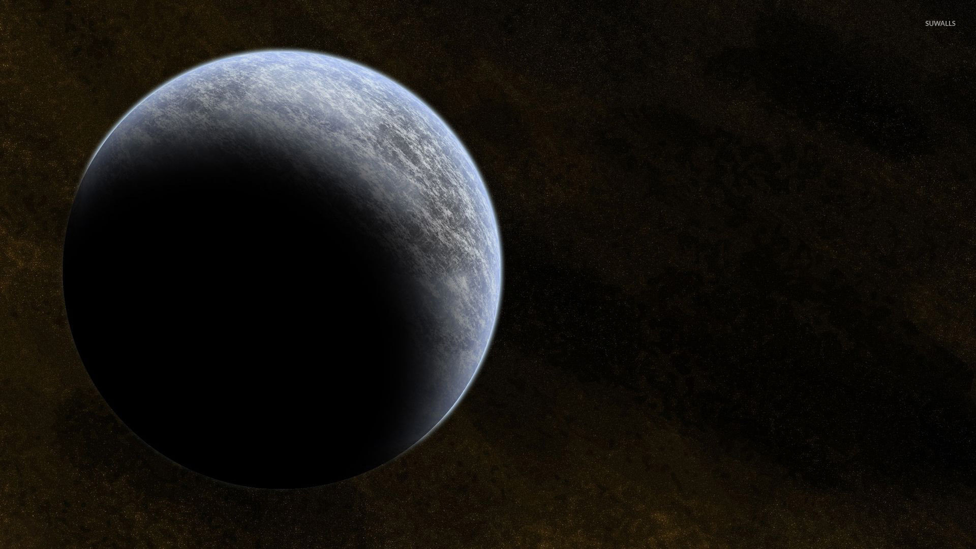 Gray planet in the brown universe wallpaper