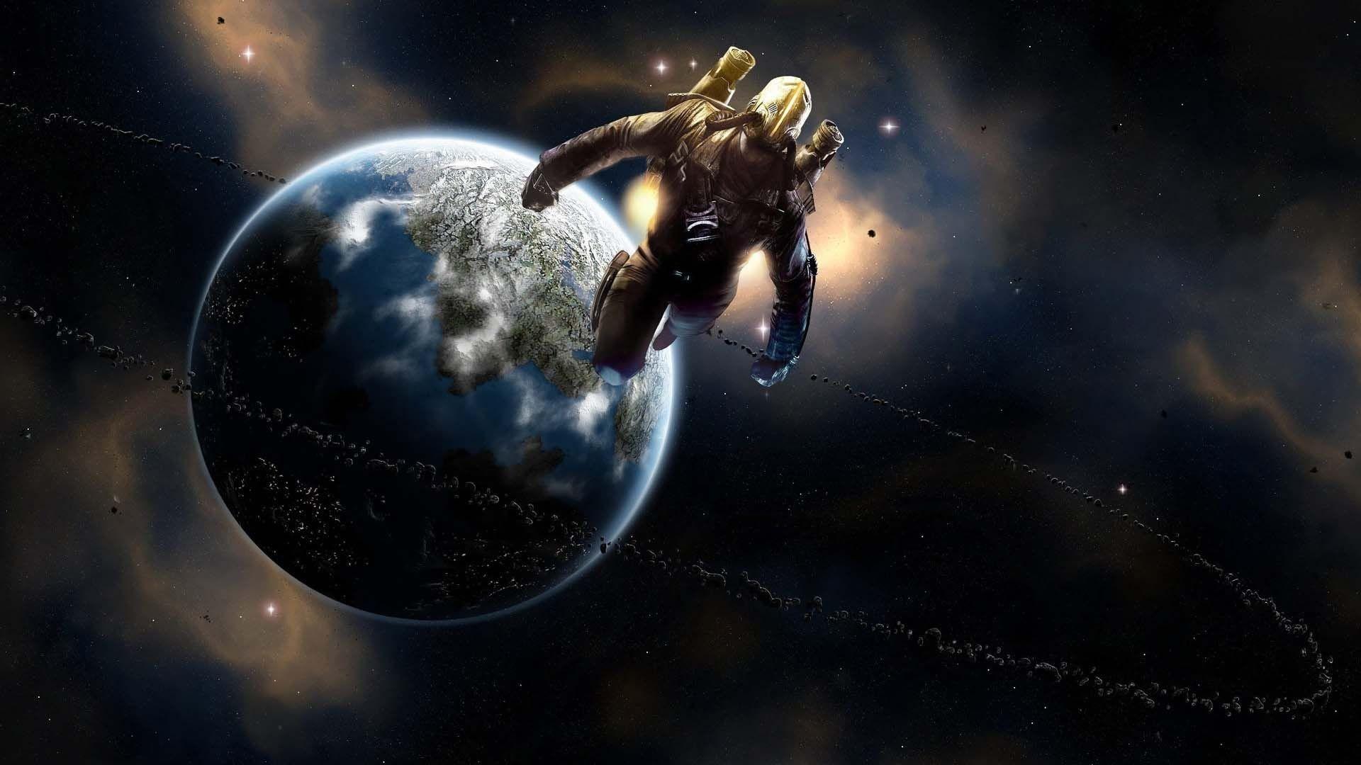 Spaceman In Universe   HD Digital Universe Wallpaper Free Download …