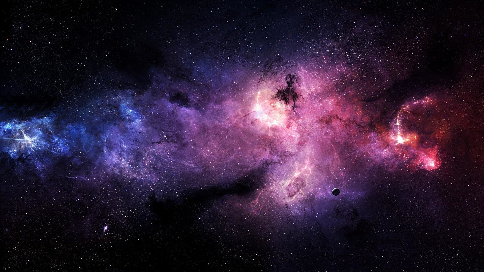 Wallpapers For > Blue And Purple Galaxy Wallpaper