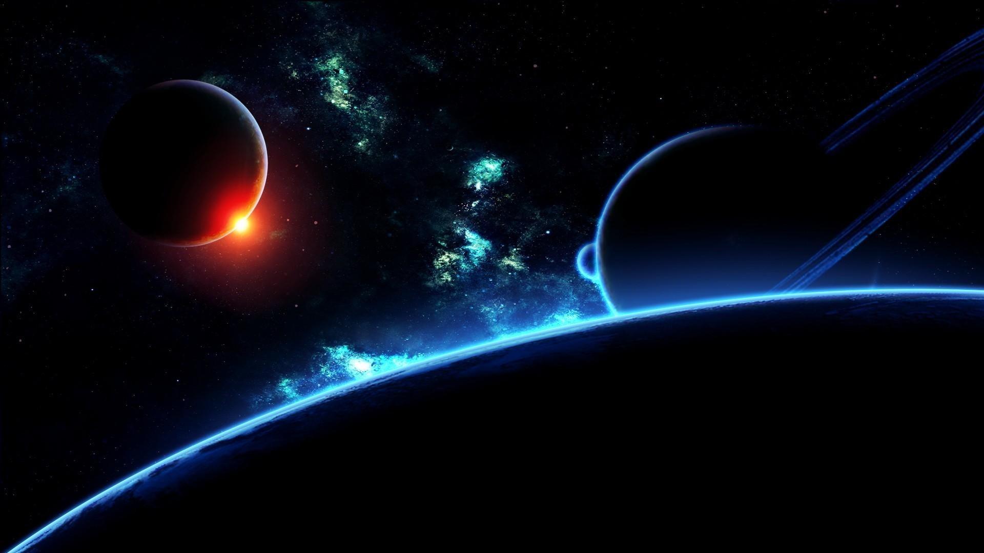 Preview wallpaper planet, universe, galaxy, stars, flash 1920×1080