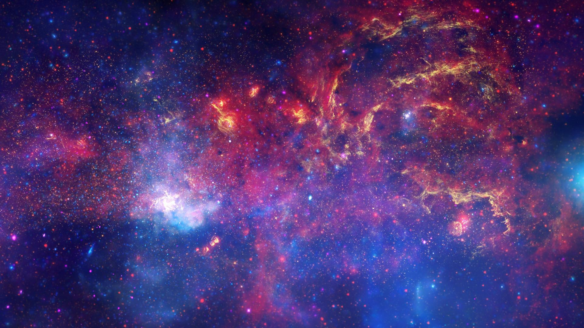 Amazing Space Galaxy Background 1080p.