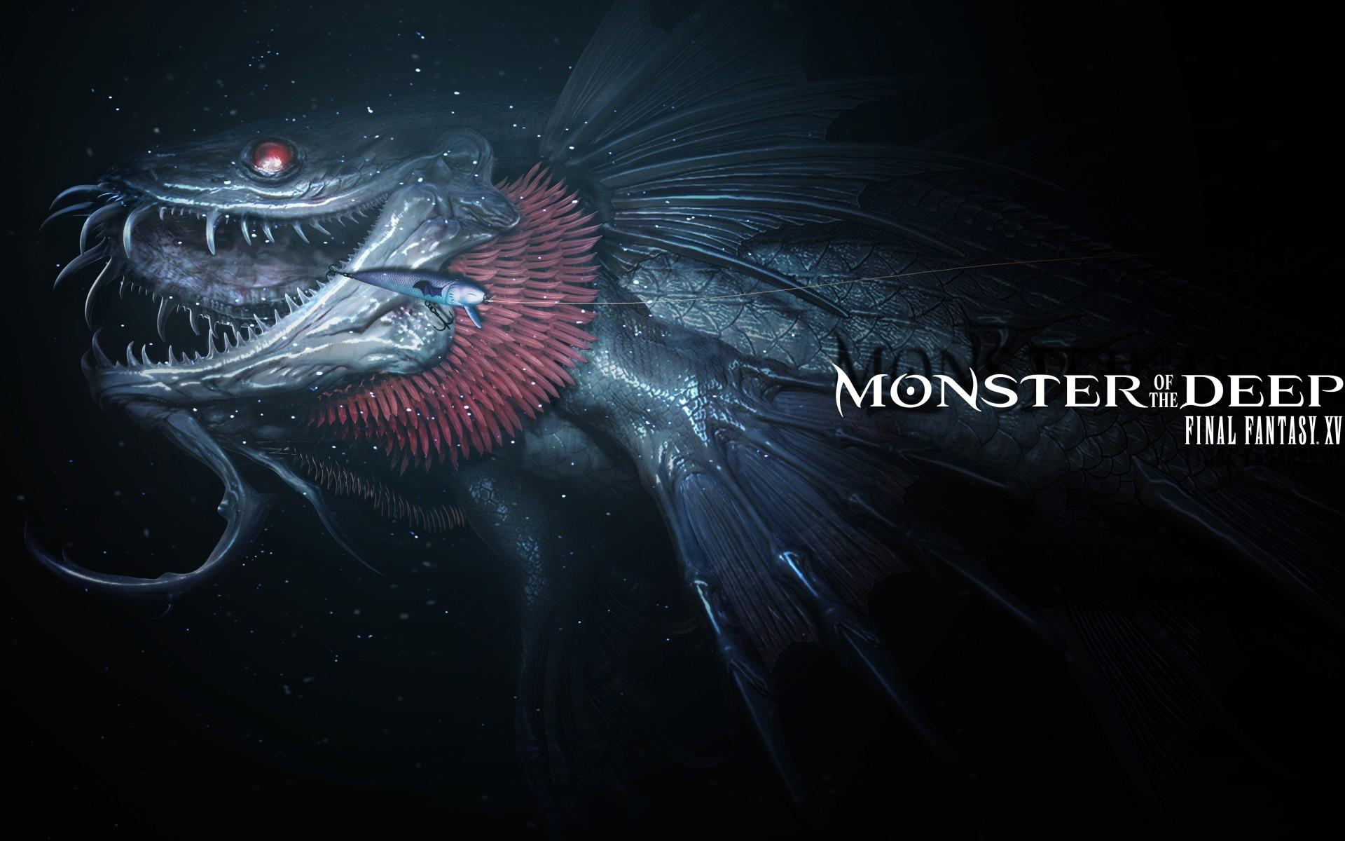 Space / Monster of the Deep: Final Fantasy XV Wallpaper