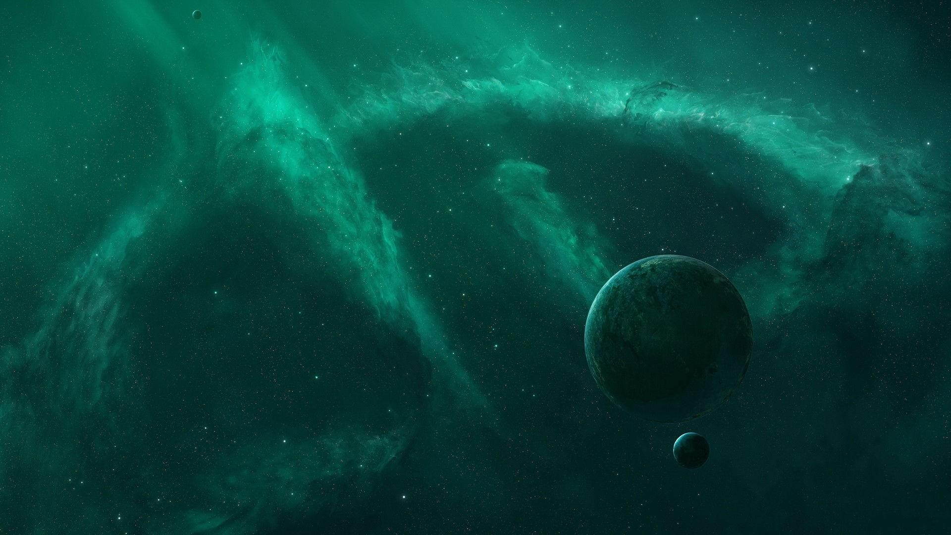 Green Nebula Planets