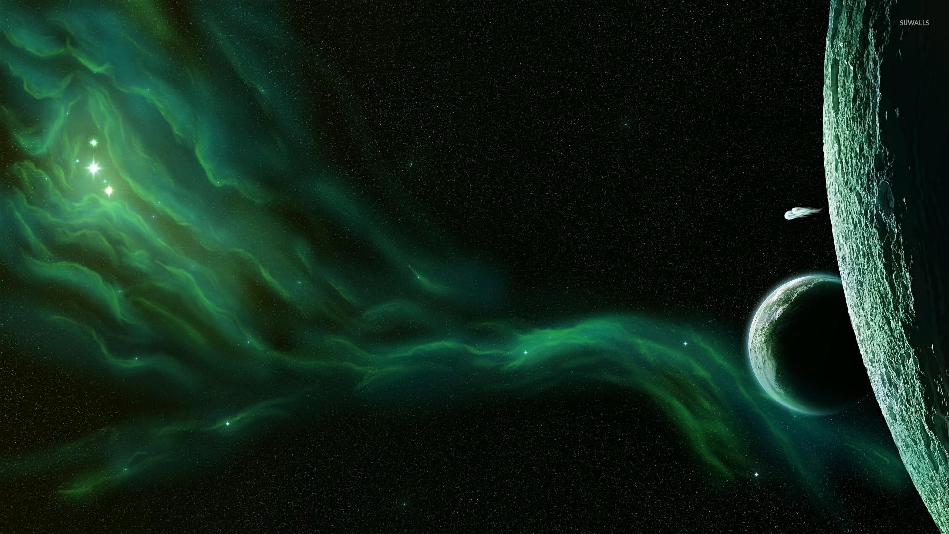 Green nebula [2] wallpaper
