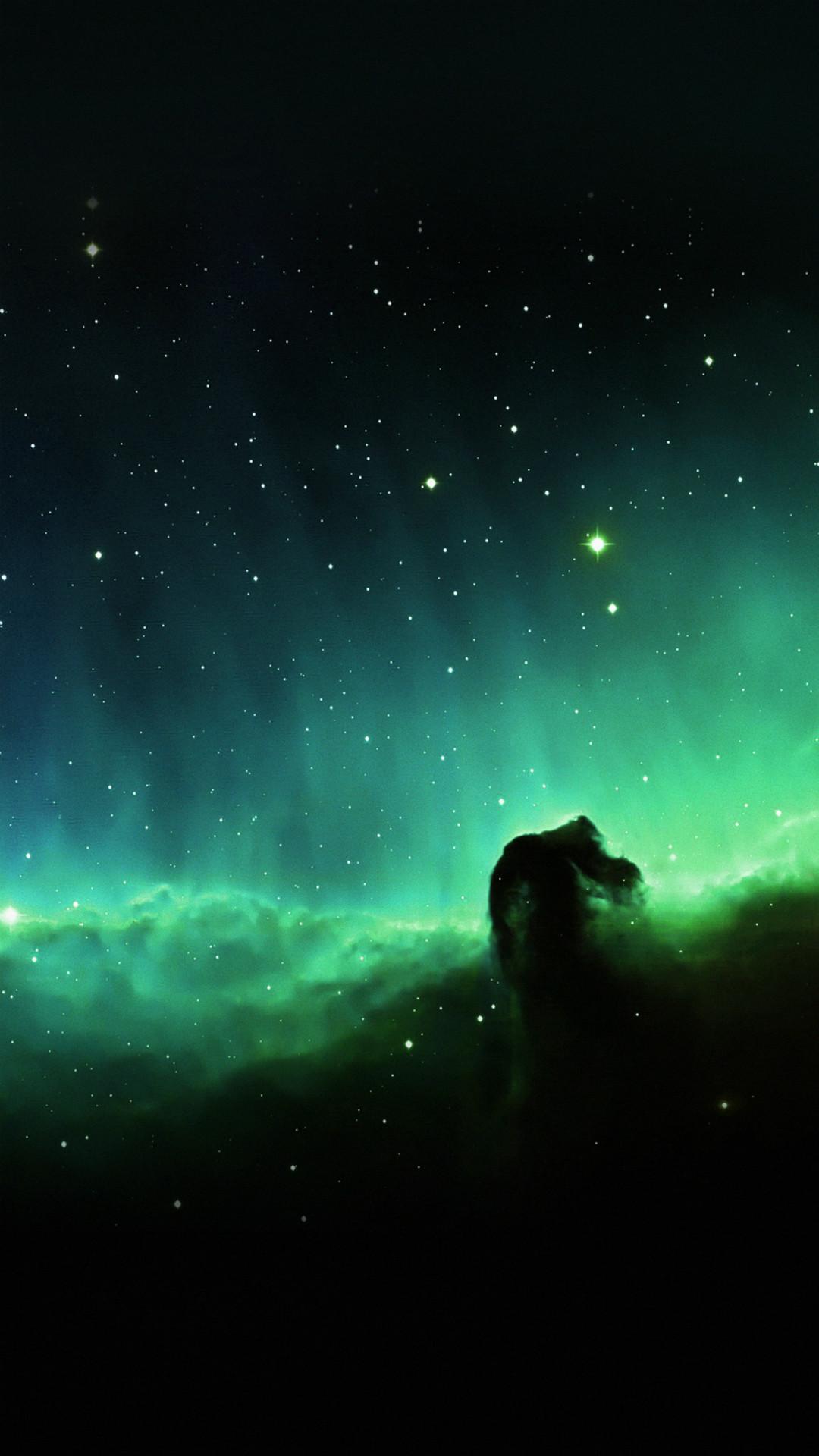 Horse Head Blue Nebula Sky Space Stars #iPhone #7 #wallpaper