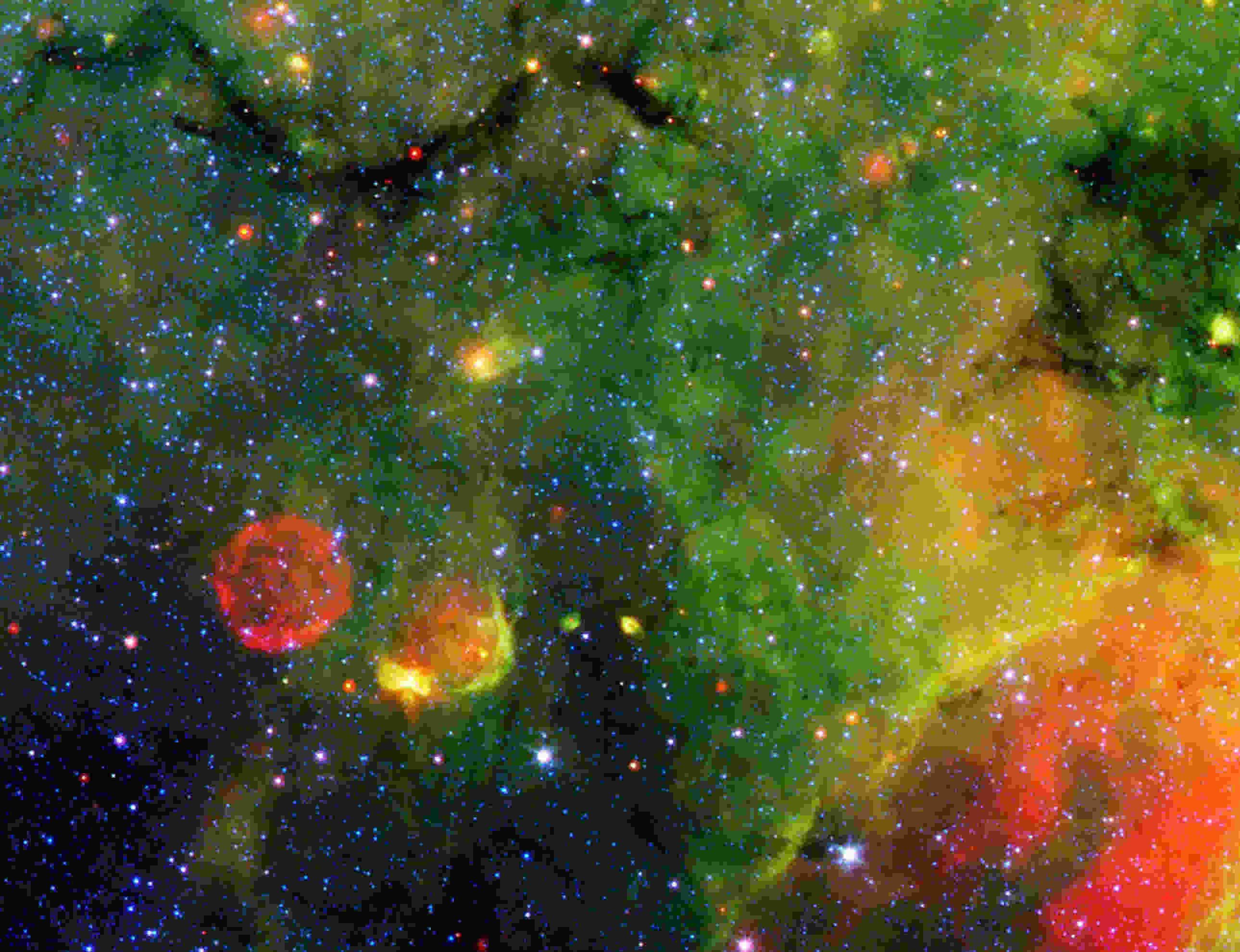 Green Constellation Nebula Wallpaper