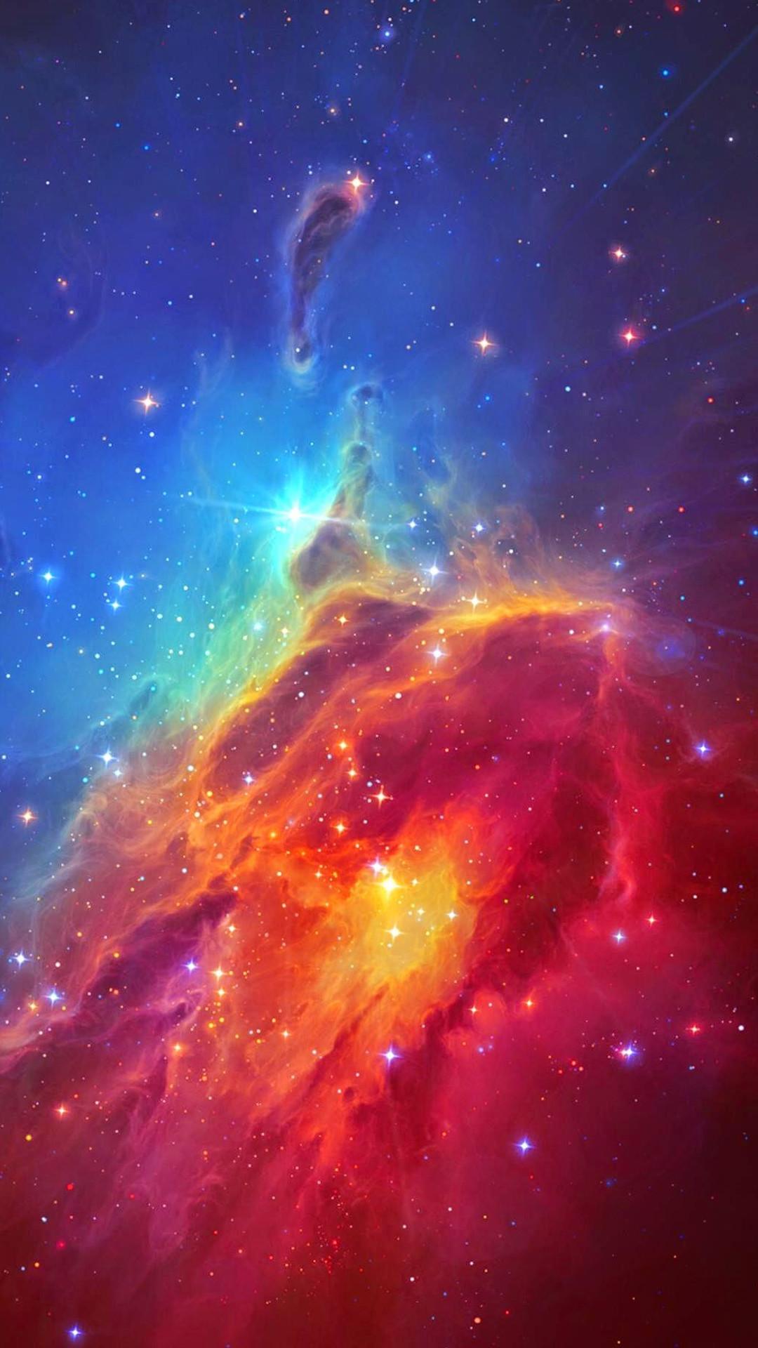 Stunning Colorful Space Nebula iPhone 8 wallpaper