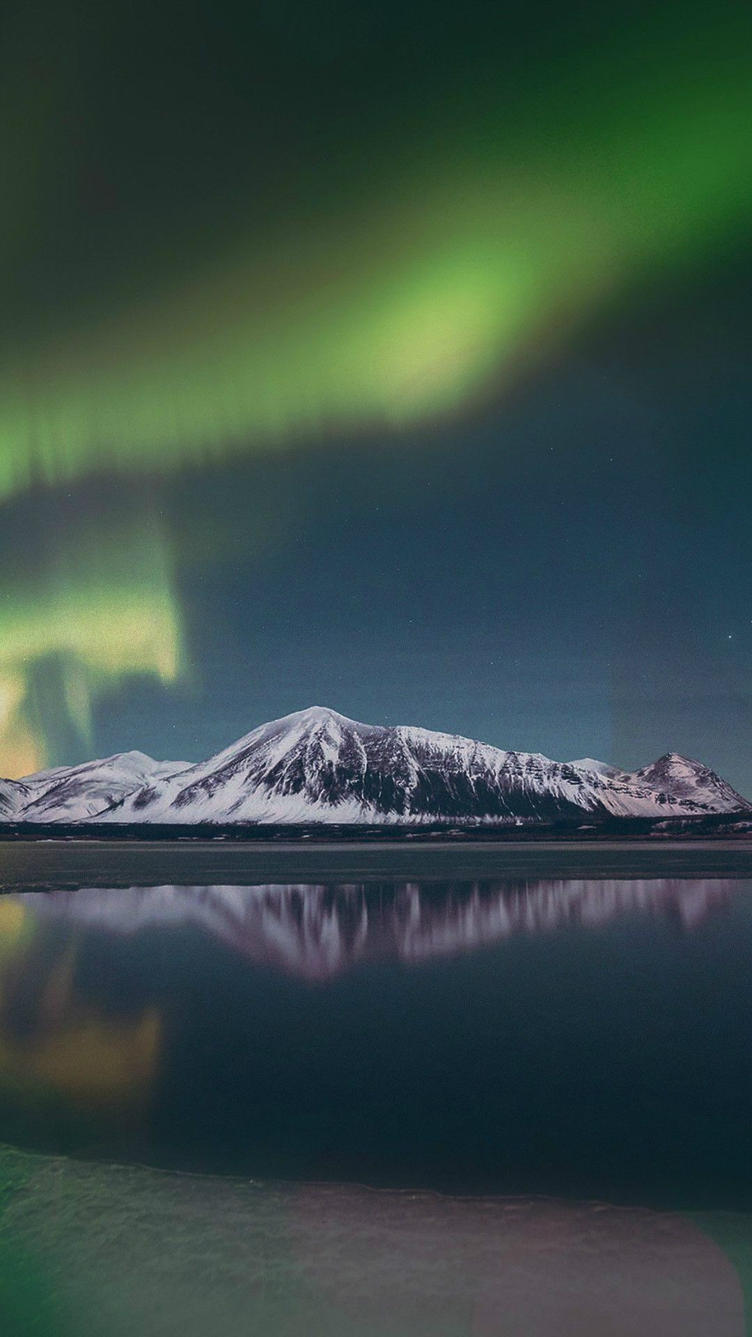 Aurora Night Sky Green Bokeh Instagram Art Nature iPhone 6 .
