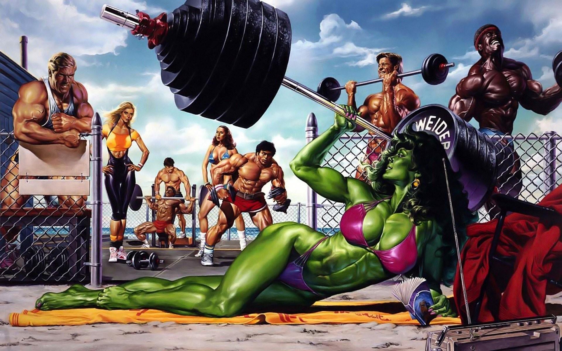 She-Hulk images She-Hulk – Bikini Weight Lifting HD wallpaper and  background photos