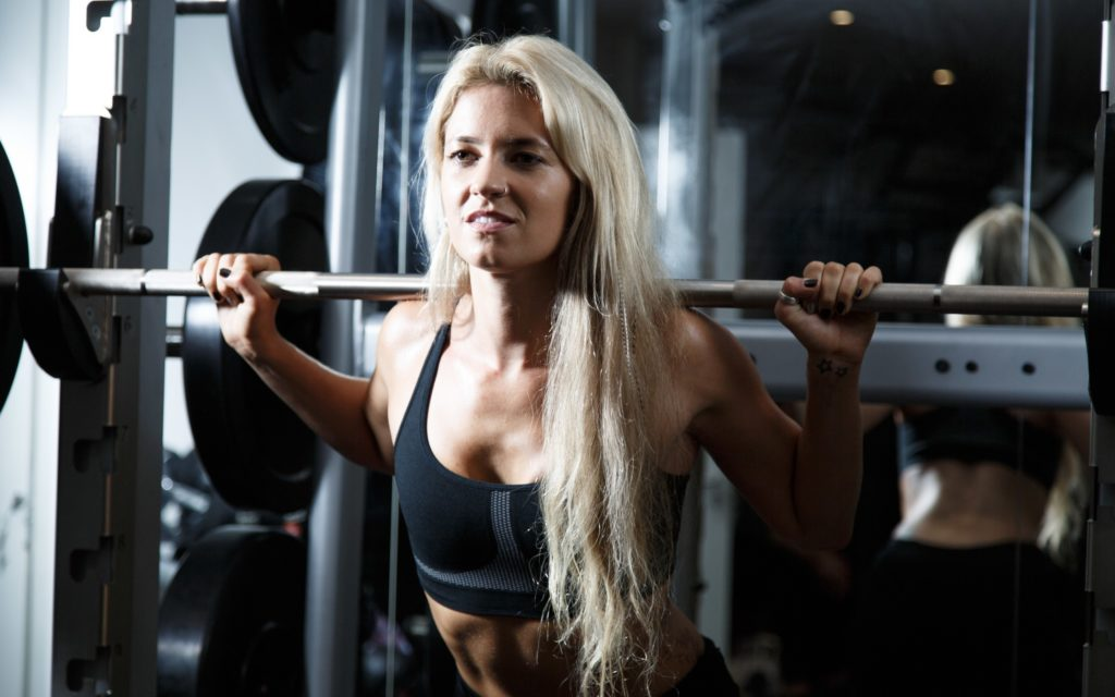 Female Weight Lifting 4k HD Wallpaper