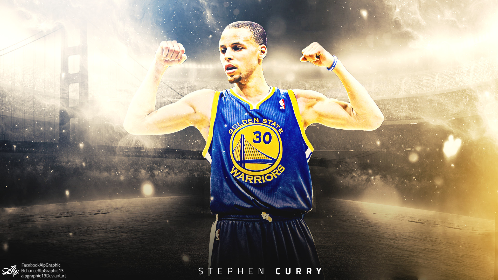 Stephen Curry Wallpaper by AlpGraphic13 Stephen Curry Wallpaper by  AlpGraphic13