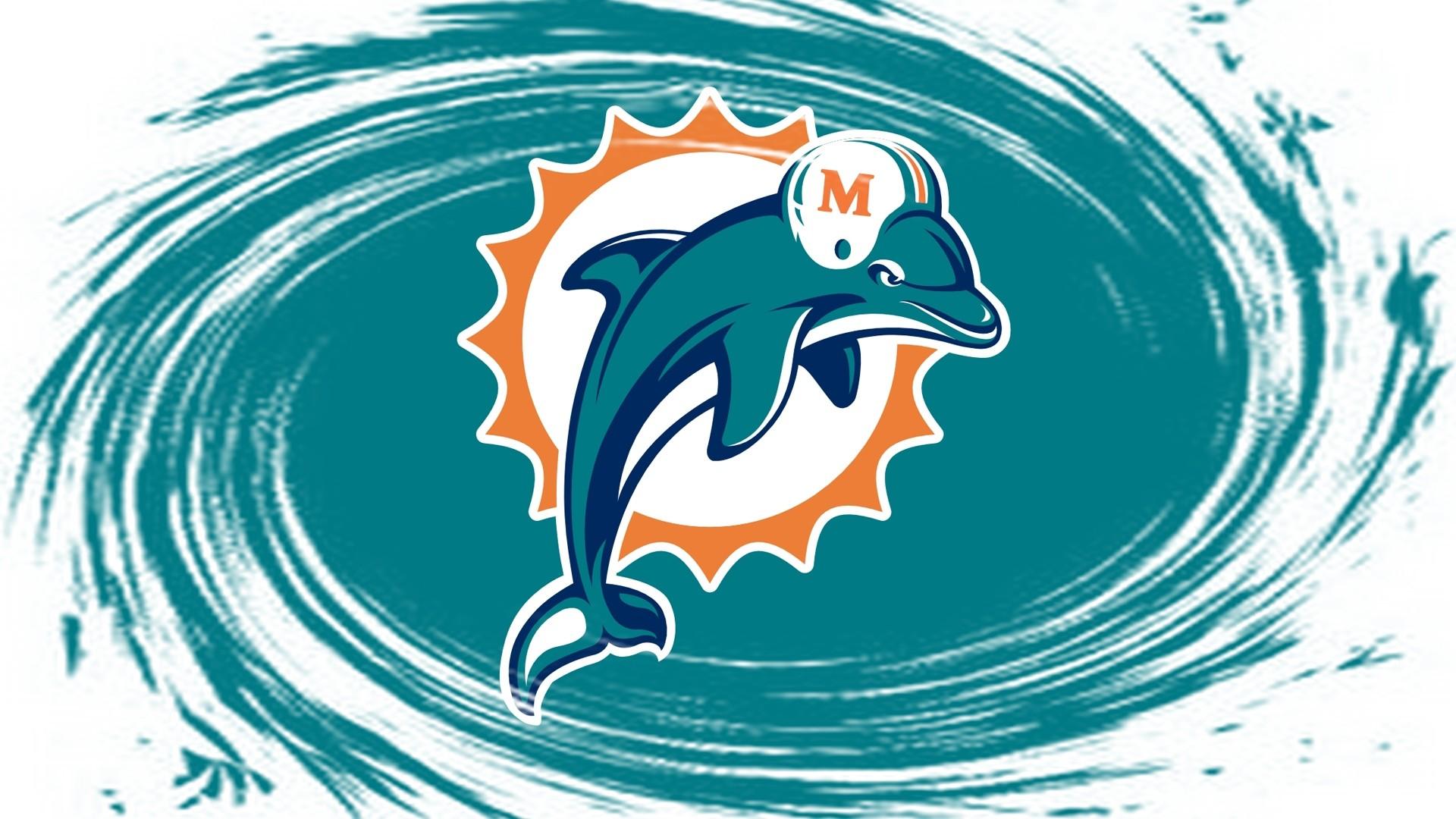 Miami Dolphins Logo Wallpaper | PixelsTalk.Net
