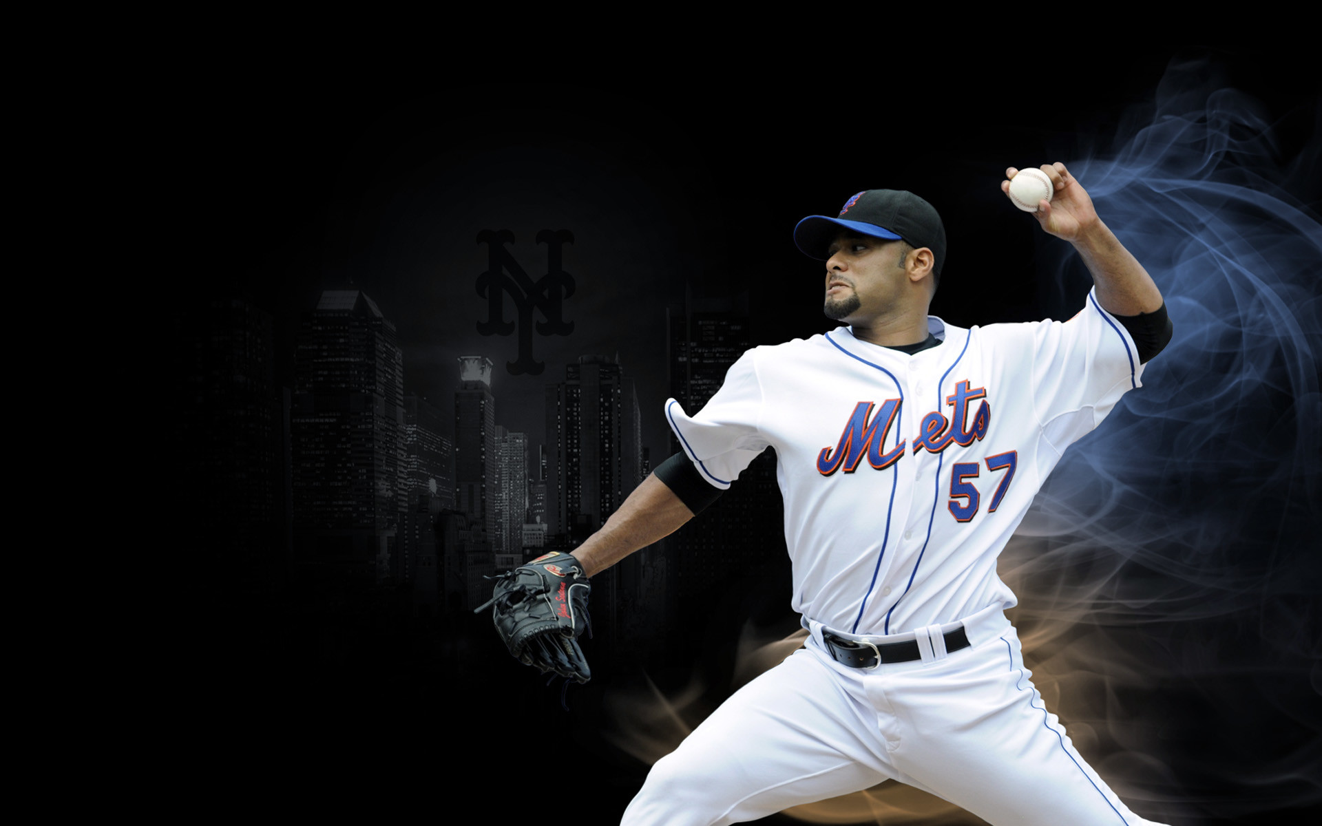 Johan Santana with the New York Mets wallpaper