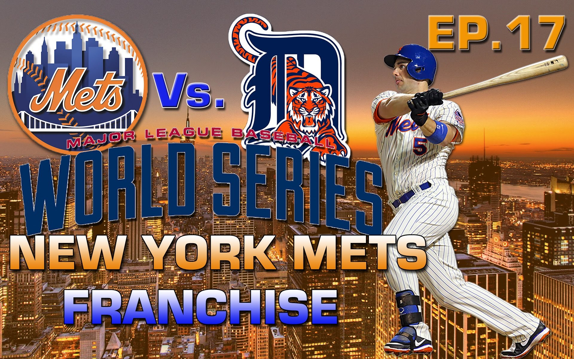 MLB 15 The Show New York Mets Franchise EP. 17: World Series Gm. 2 Vs.  Tigers