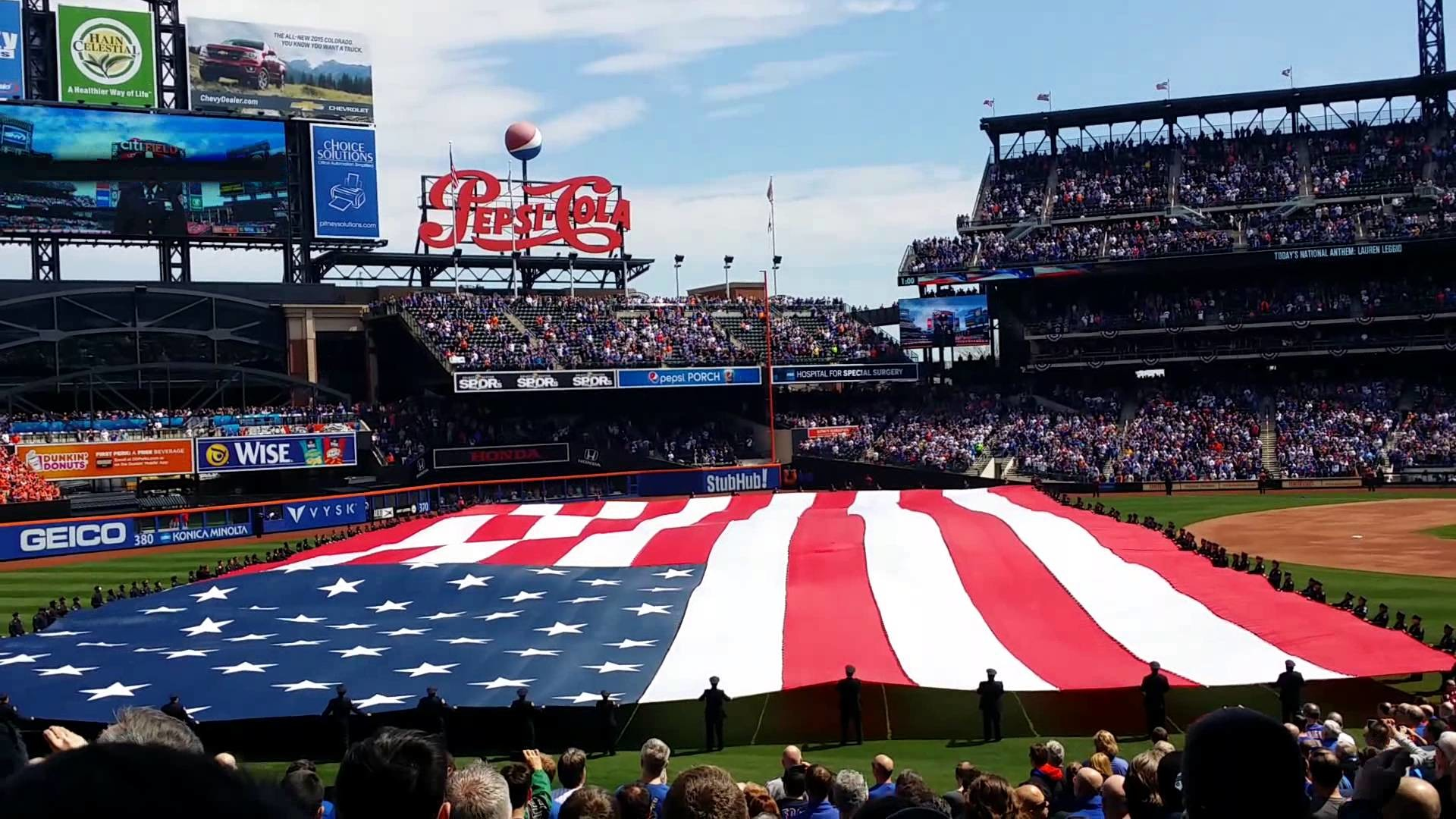 New York Mets 2015 opening day ceremony