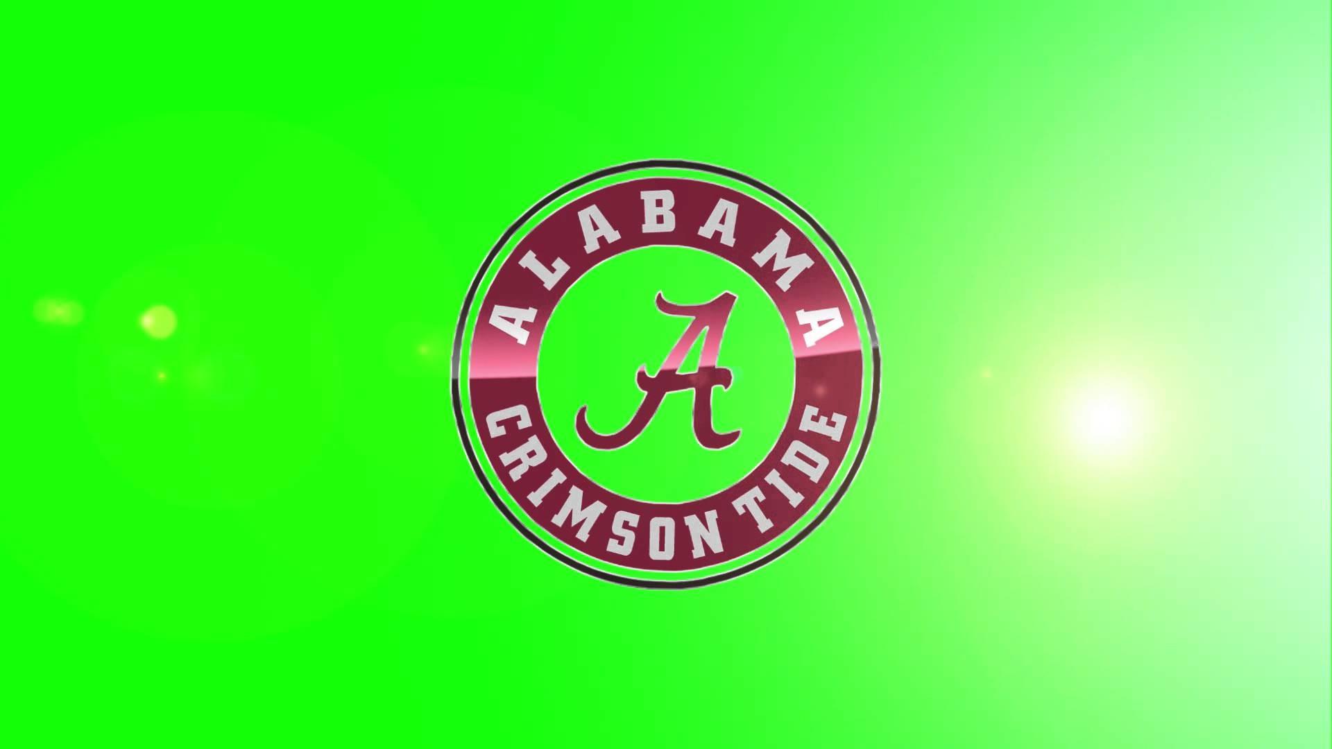 Alabama Crimson Tide Logo Green Screen