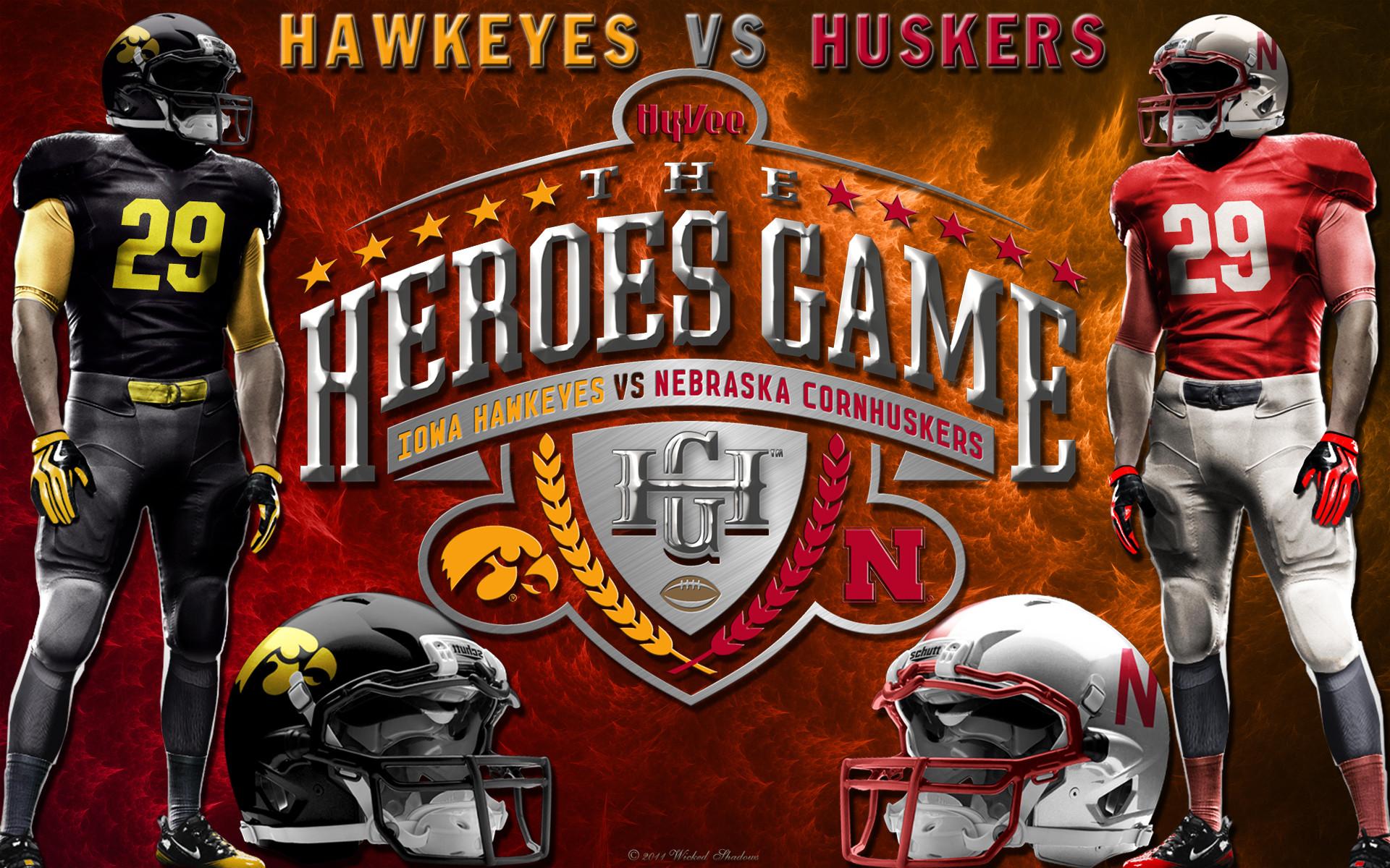 … x 1200. Nebraska Cornhuskers vs the Iowa Hawkeyes Heroes Game Wallpaper  …
