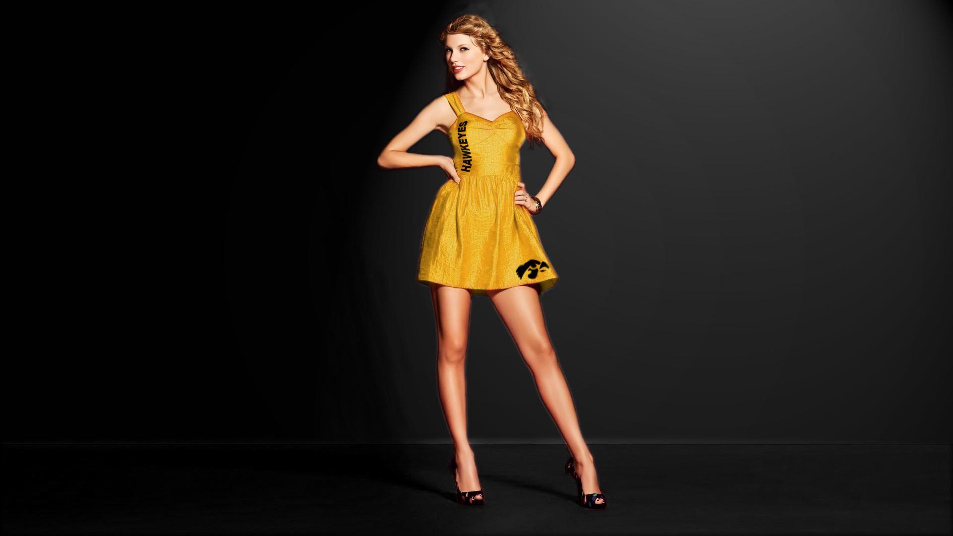 … Taylor Swift – Iowa Hawkeye Dress by pianoman674
