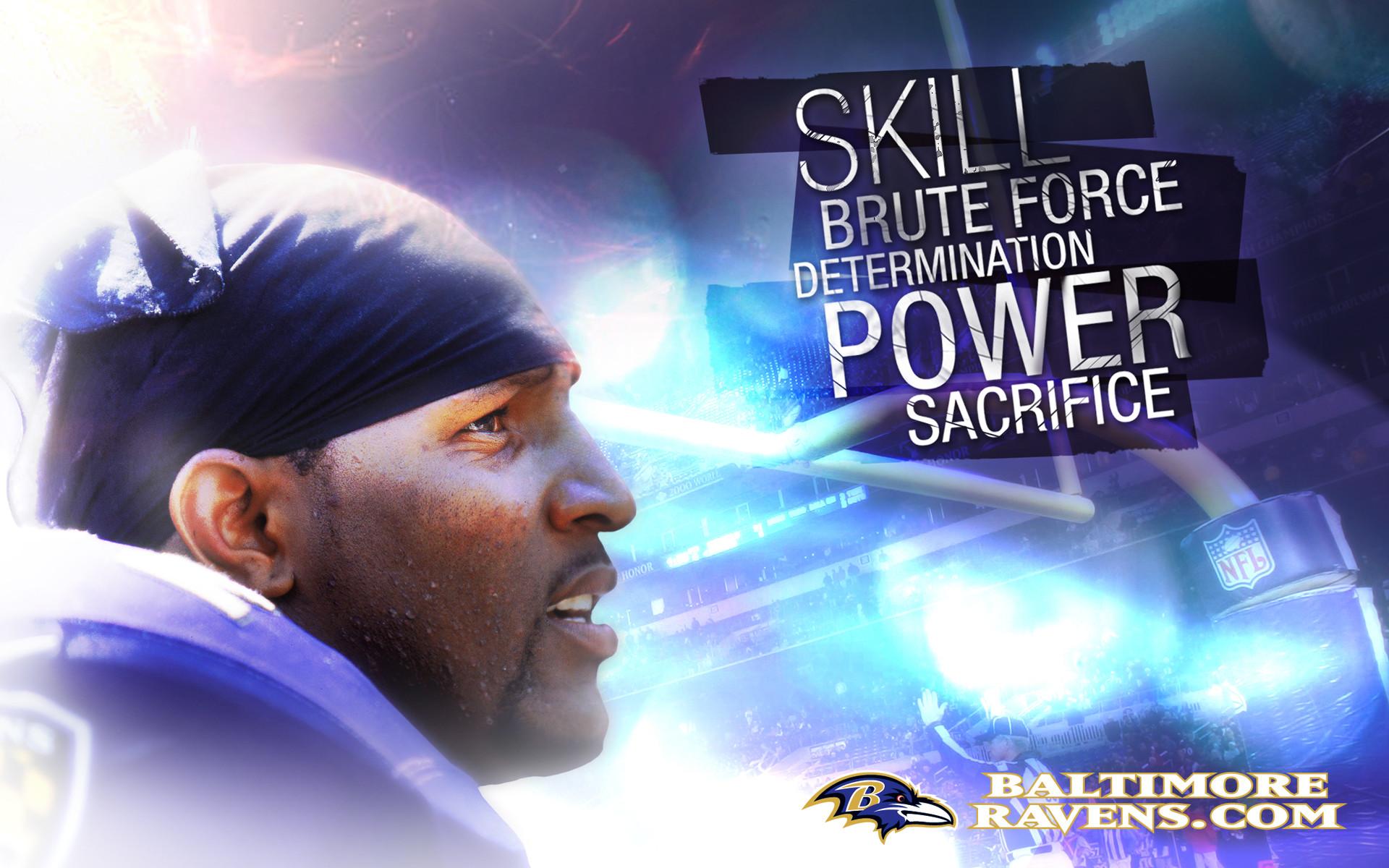 nfl baltimore ravens skill brute force determination power sacrifice