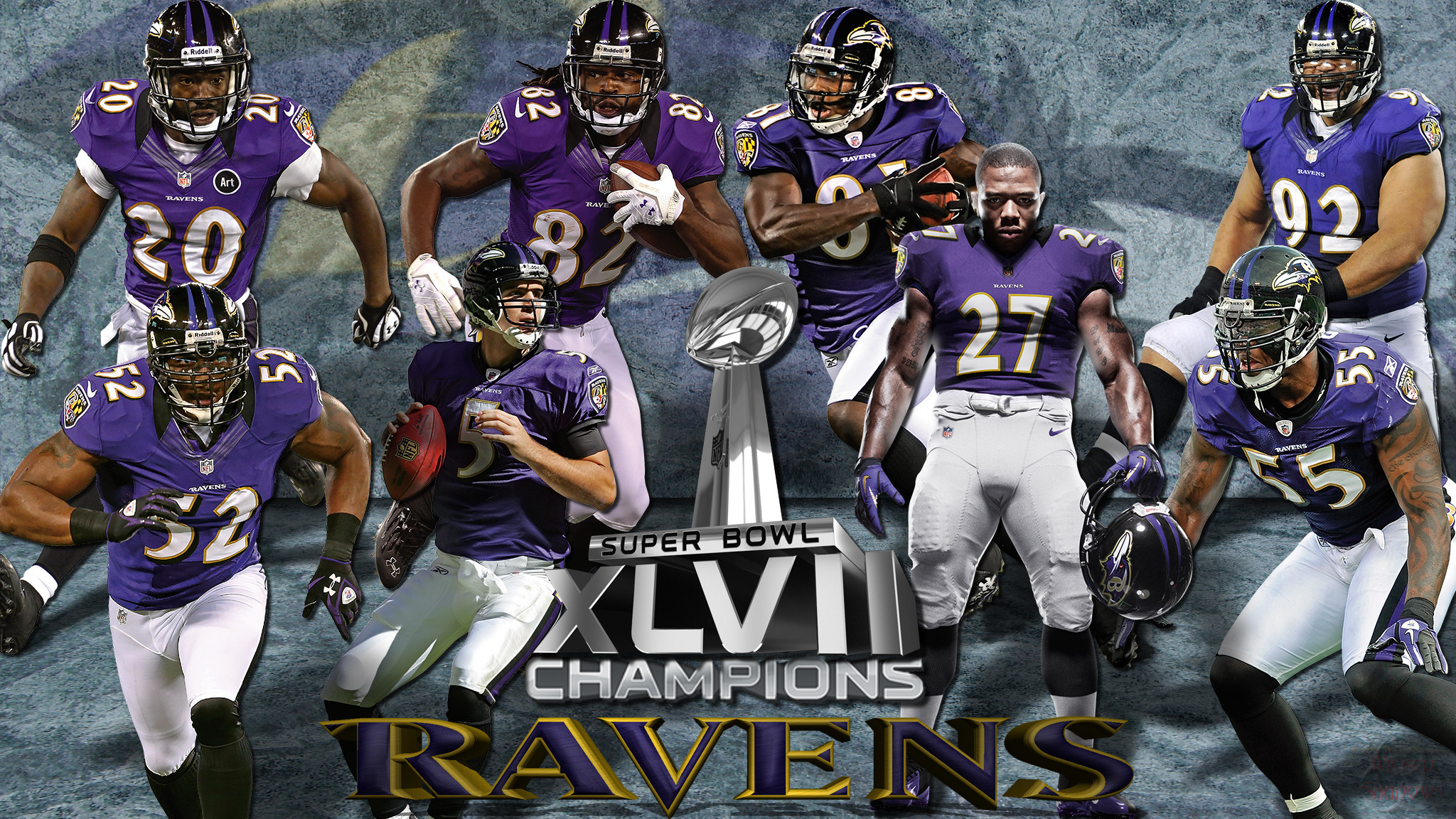 Wallpapers By Wicked Shadows: Baltimore Ravens Super Bowl XLVII .